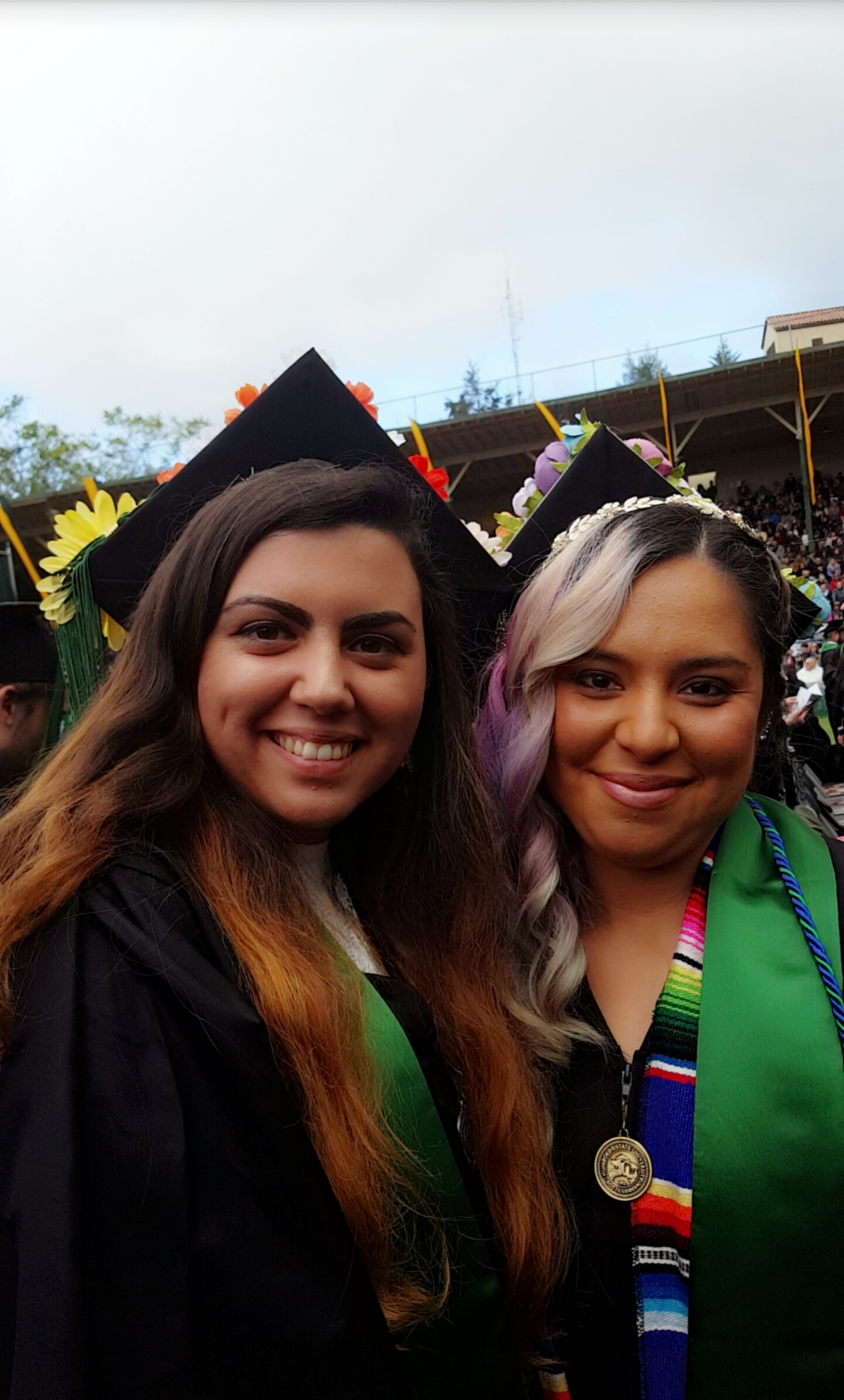 Dezi Villagomez and Josefina Bobadilla during the graduation ceremony last spring 2017.