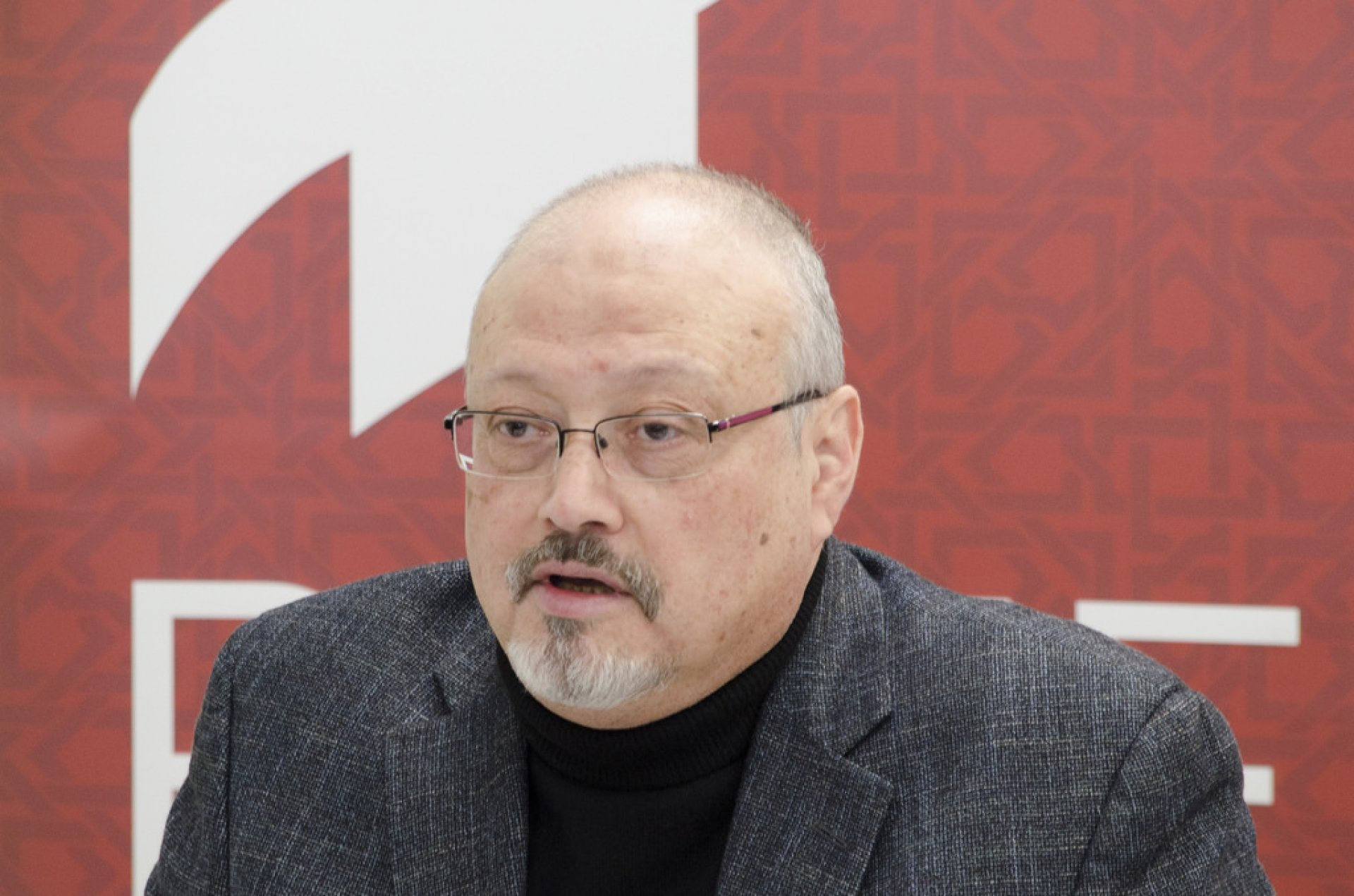 Saudi journalist, Global Opinions columnist for the Washington Post, and former editor-in-chief of Al-Arab News Channel Jamal Khashoggi offers remarks during POMED's