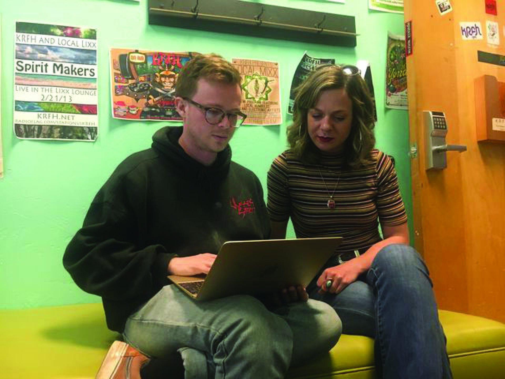 HSU students,Damian Jimenez and Megan Martin   Photo by Freddy Brewster