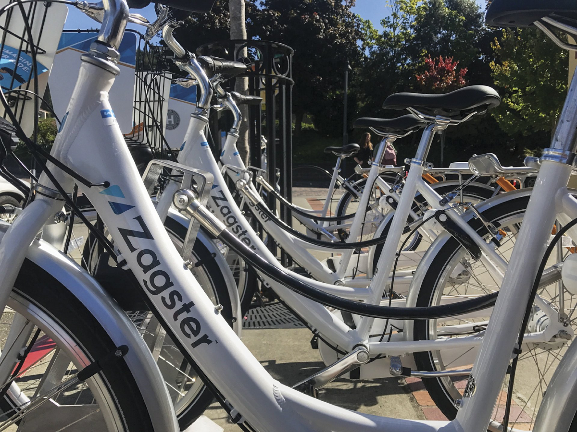 Bike share at Harry Griffith Hall. Photo credit: Andre Hascall