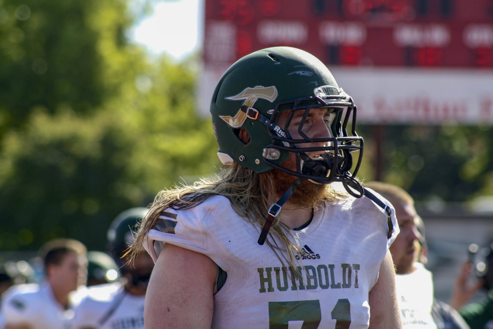 Jacks star offensive lineman was drafted 94th overall in the 2018 NFL draft. Cappa is the highest selection in HSU history. Photo by: Skye Kimya