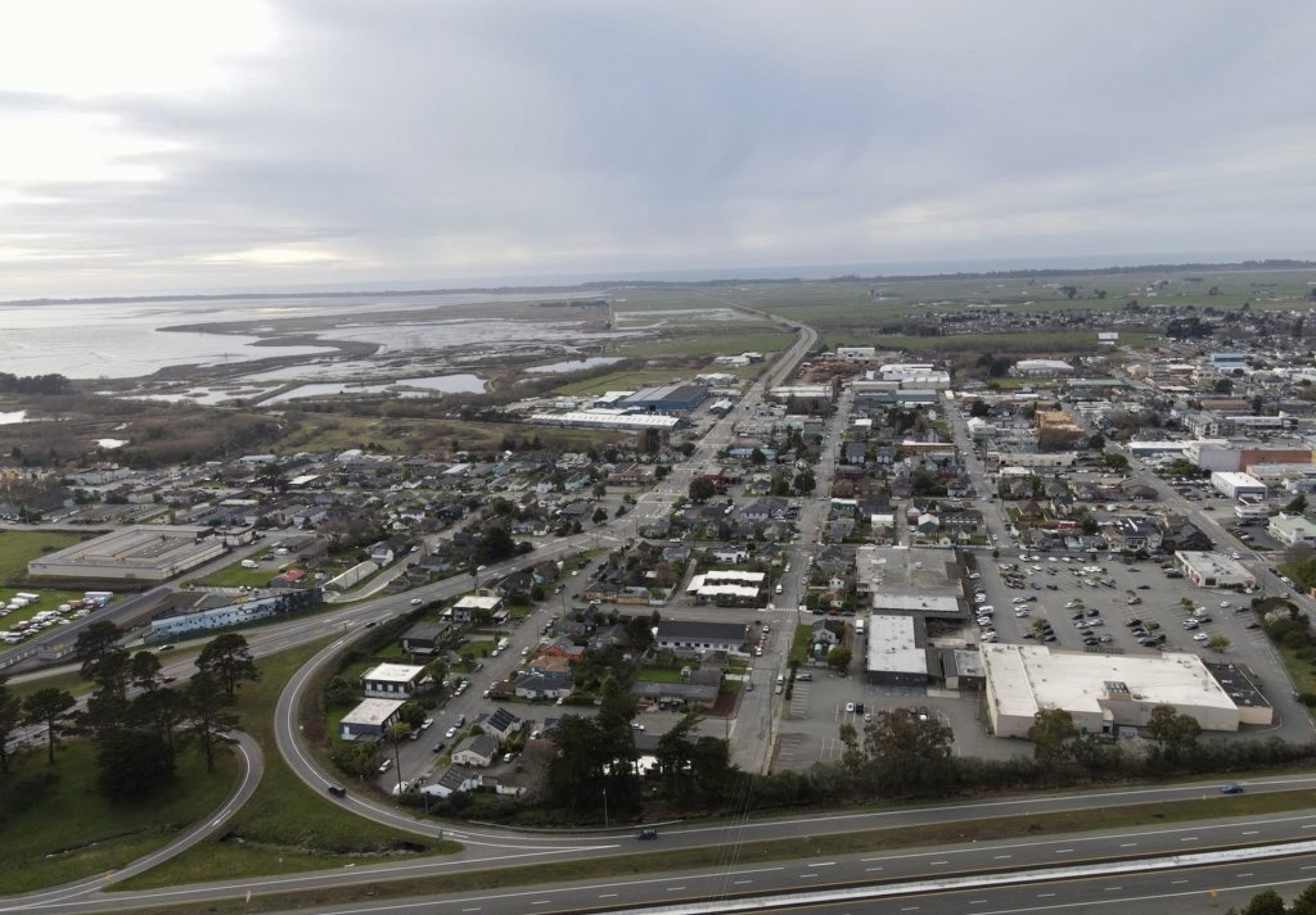Viewing Arcata from above on Feb. 9. | Photo by Poppy Cartledge