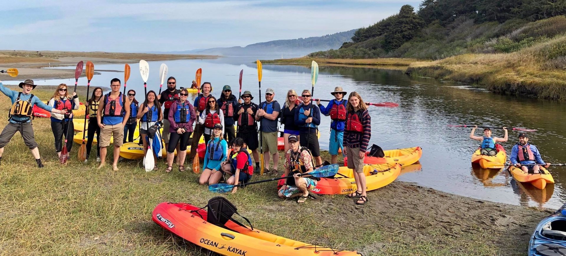 The SVA on kayaking trip to Big Lagoon Photo credit: Myra Hallman
