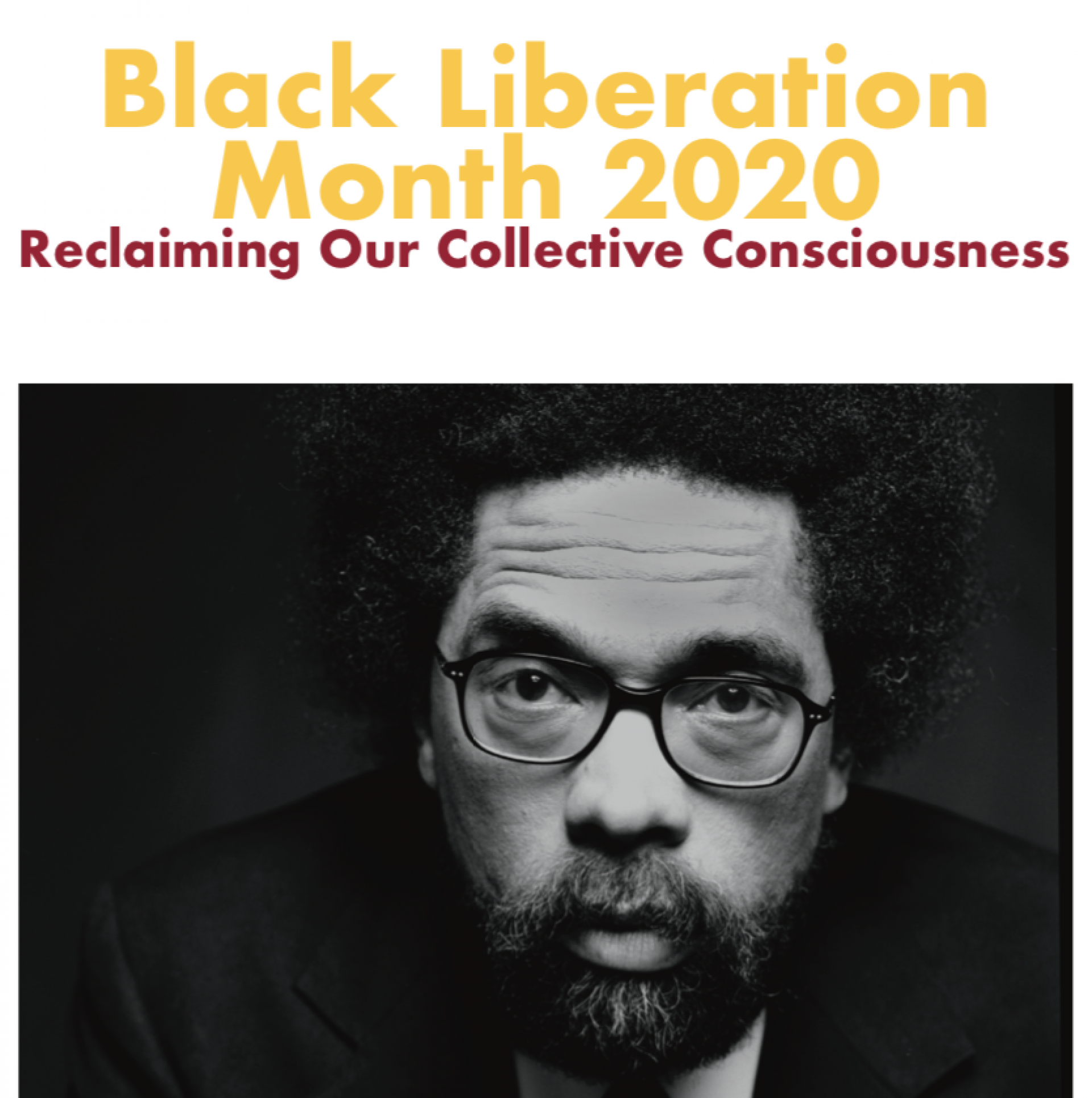 Crop of the Humboldt State University Black Liberation Month 2020 poster