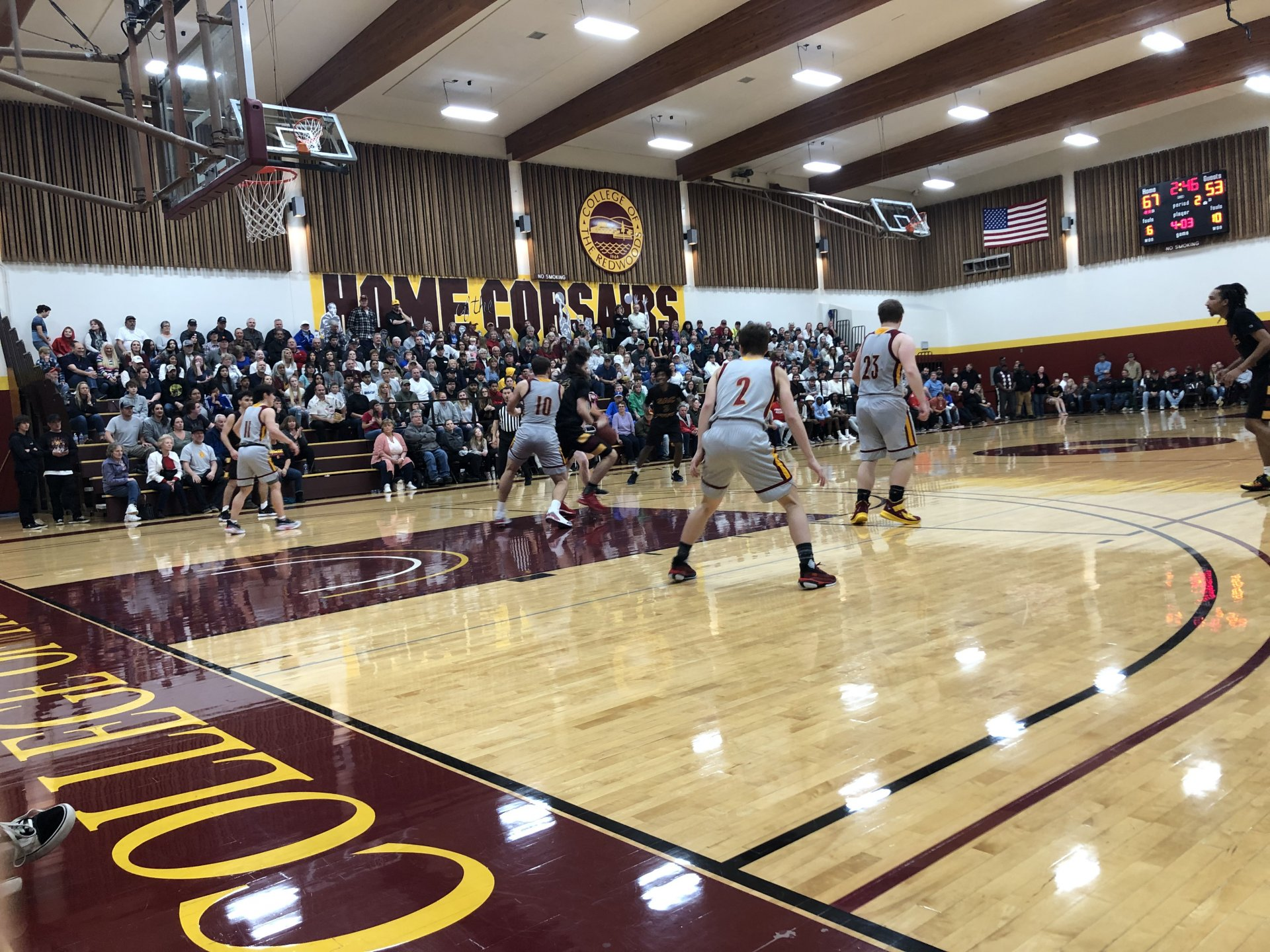Corsairs defend against Sacramento City College in the first round of the CCCAA State Playoffs in front of sold-out home crowd. | Photo by Deion Alston