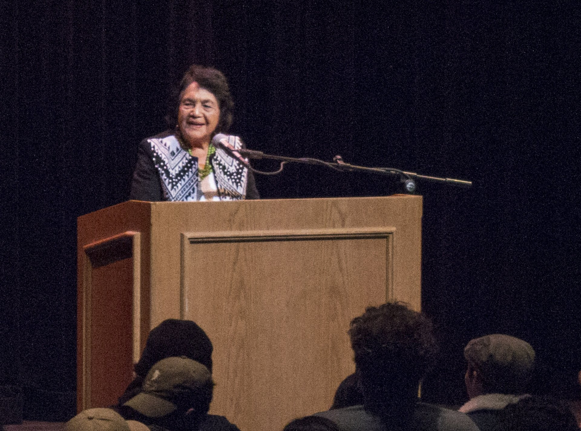 Dolores Huerta speaks at Humboldt State Universities' Van Duzer Theater, Monday, Nov. 13, 2017. Photo credit: Robert Brown