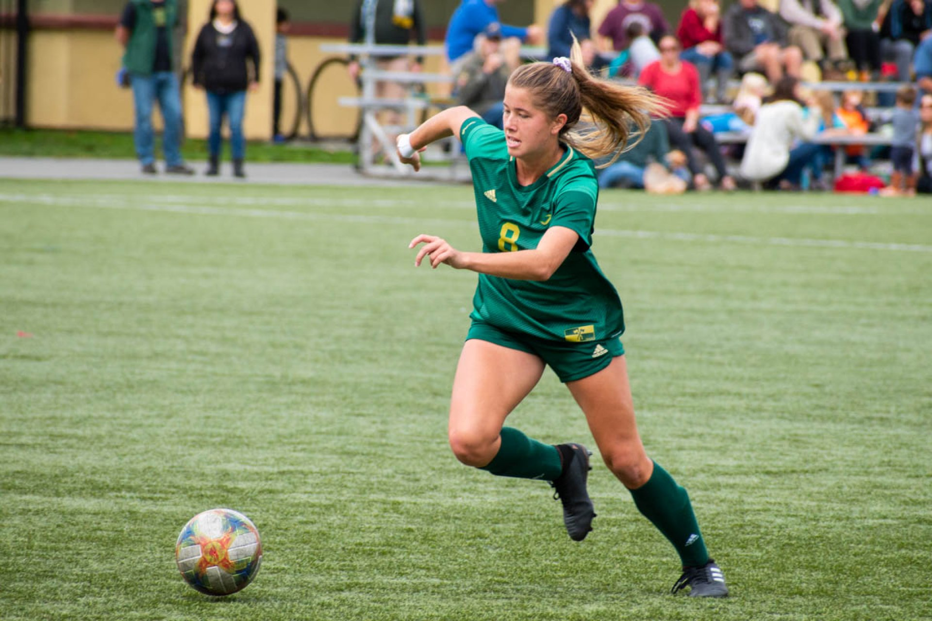HSU played Cal State Monterey Bay at College Creek Field and beat the Otters in overtime 1-0. | Photo by Liam Warner