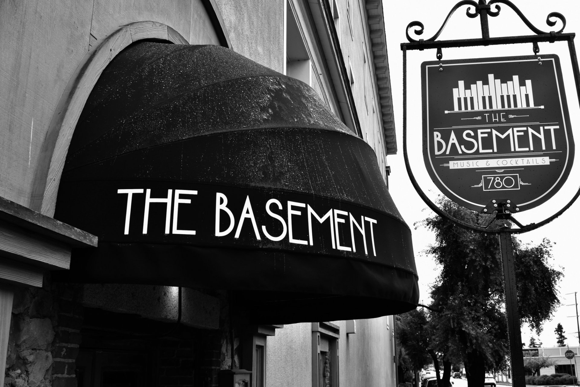 The Basement jazz club and lounge H Street entrance.  | Photo by Megan Bender
