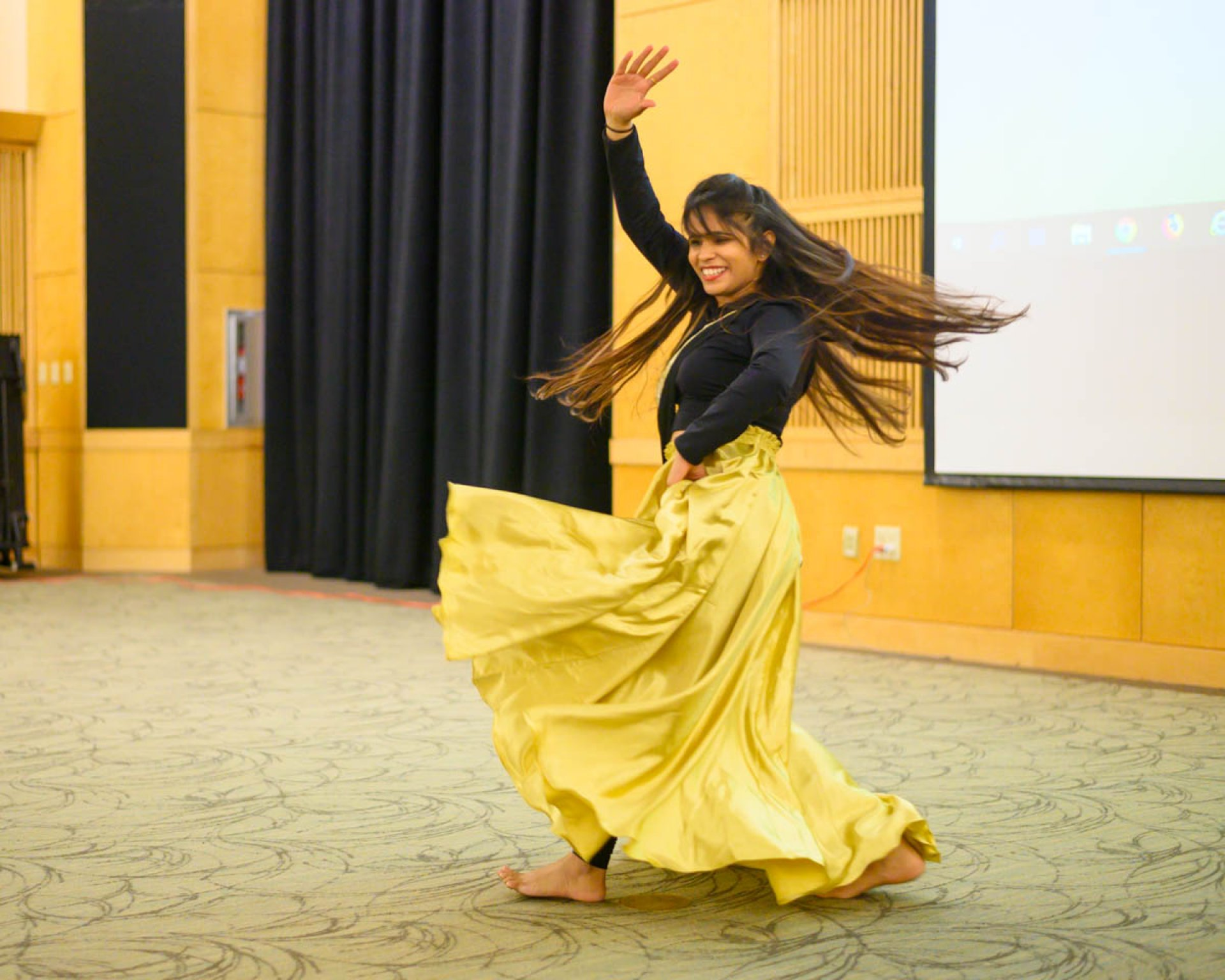 Anamika Singh performs a Bollywood dance at the Diwali Festival of Light on Oct. 25. | Photo by Ben Zawilski