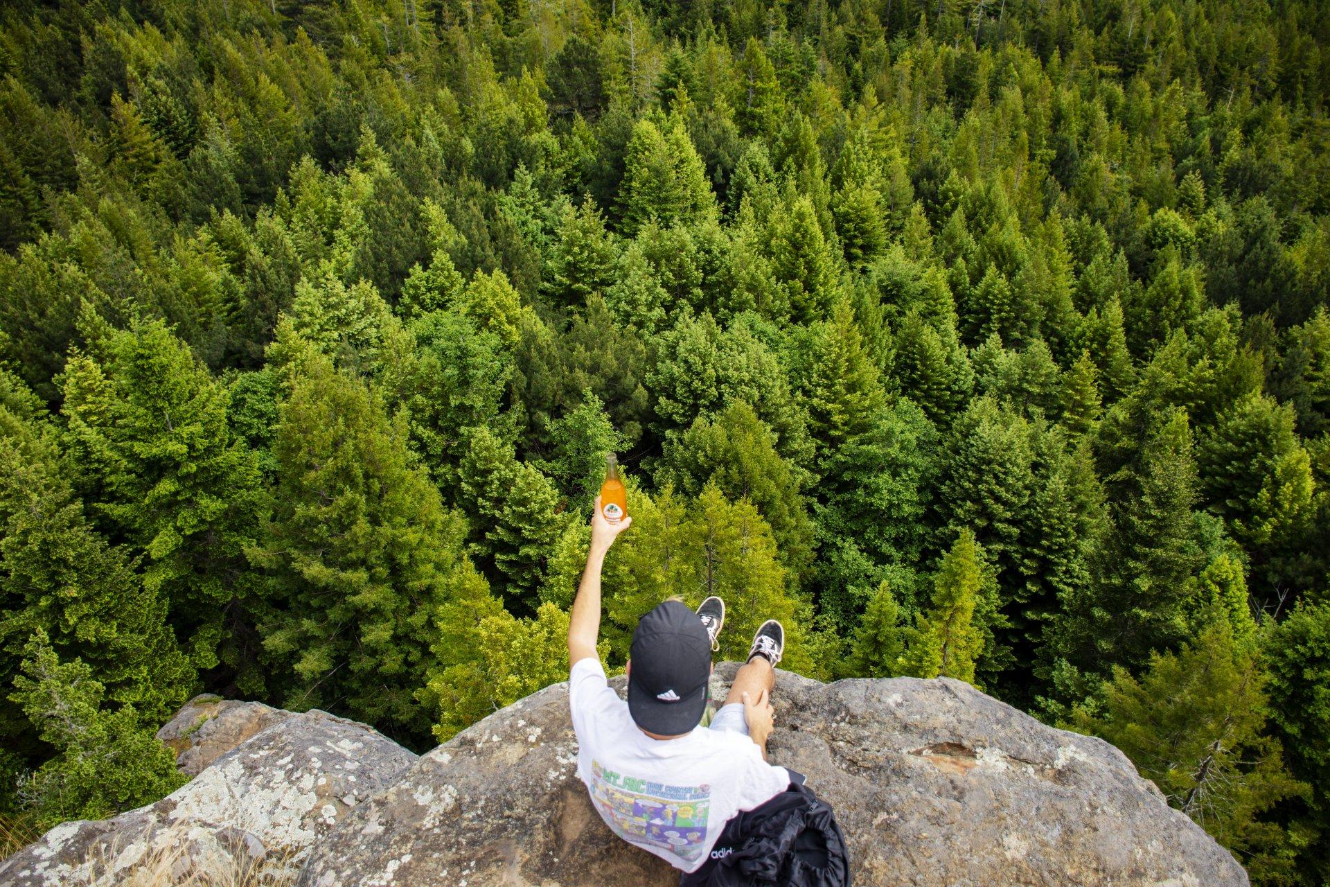 Humboldt State student Evan Ledesma at Strawberry Rock on June 11, 2020. | Photo by Elliott Portillo