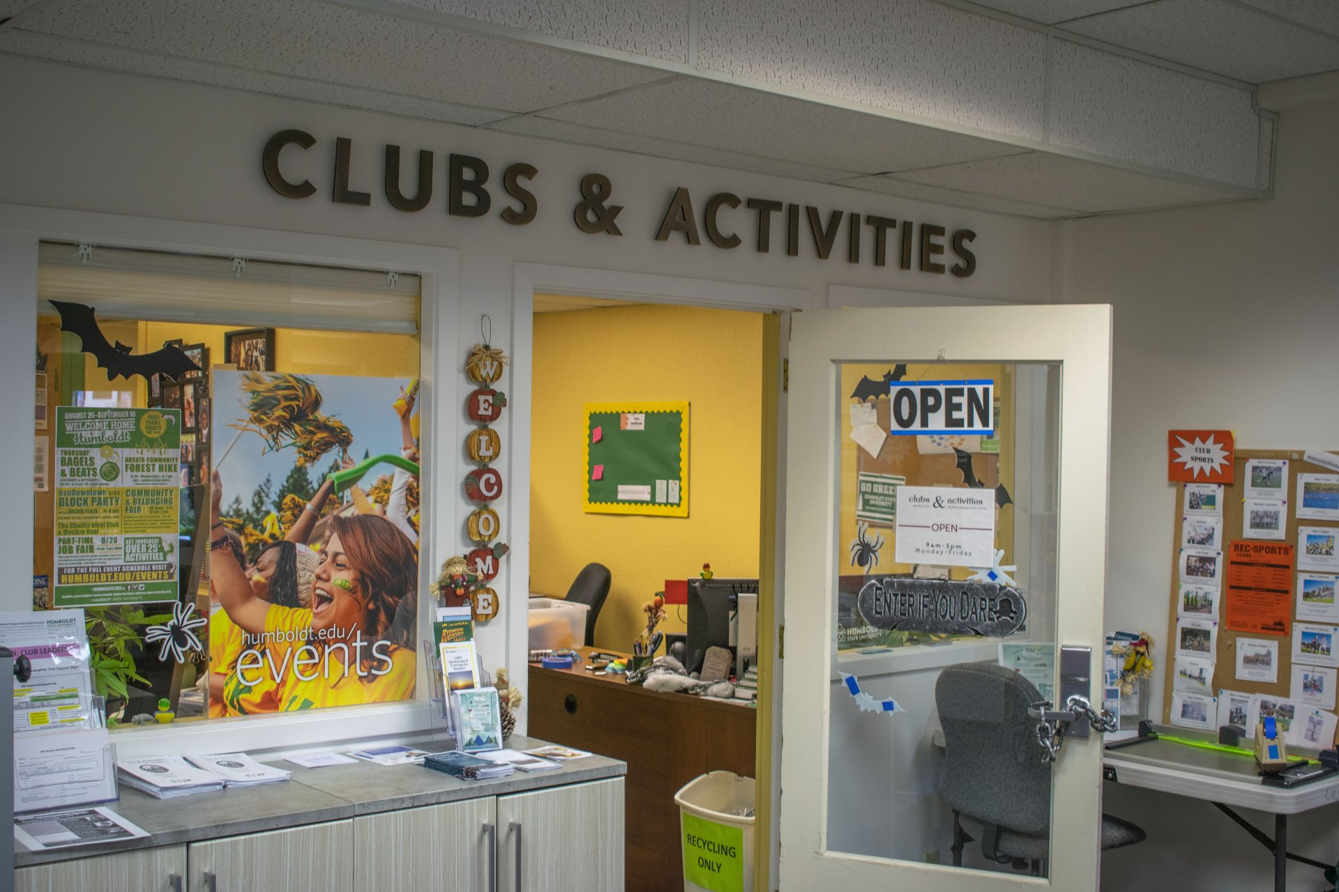 The Humboldt State University Clubs and Activities office on Oct. 17. C&A Coordinator Molly Kresl said C&A ultimately aims to educate students on best financial practices.