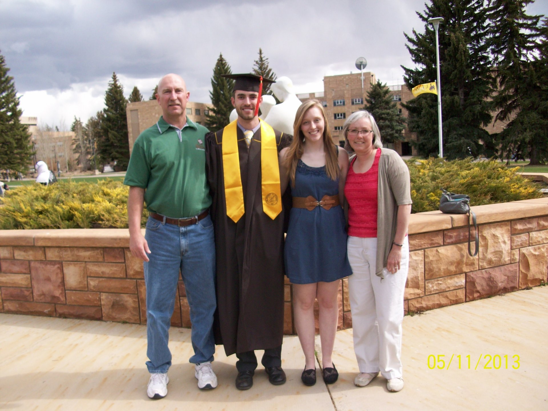 Erin Henry posing with her family. From let to right: Tom Henry (father), Ian Henry (brother), Erin Henry and Teri Rowland (mother). Photo submitted by Tom Henry.