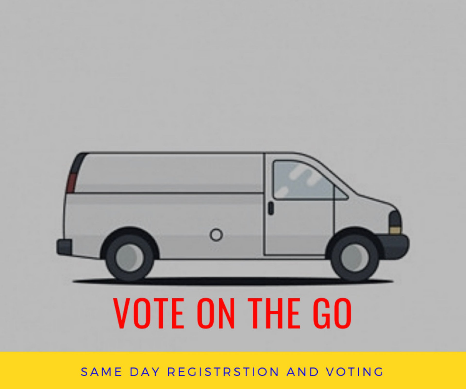A voter van will be running from HSU's Library Circle every hour starting at 11 a.m. on Nov. 6 for the midterm elections. | Photo Illustration by Megan Bender
