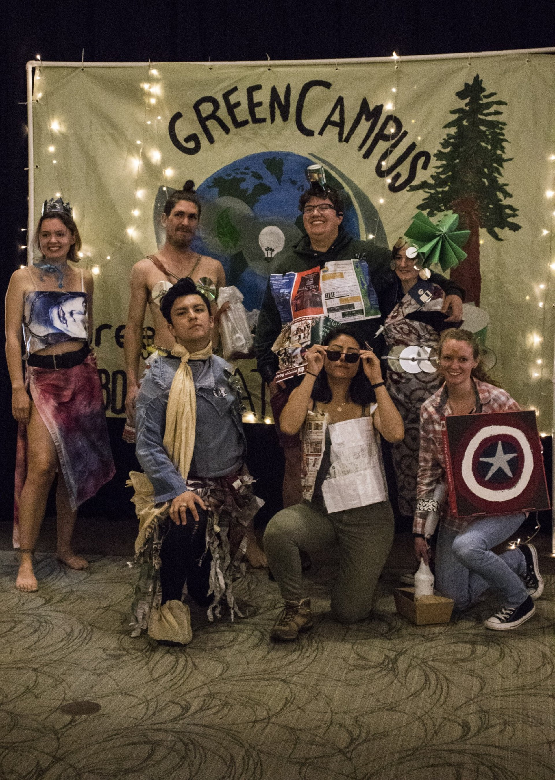 Green Campus held their third annual Trashion show in the Kate Buchanan Room at HSU during Earth Week on April 21. | Photo by T.William Wallin
