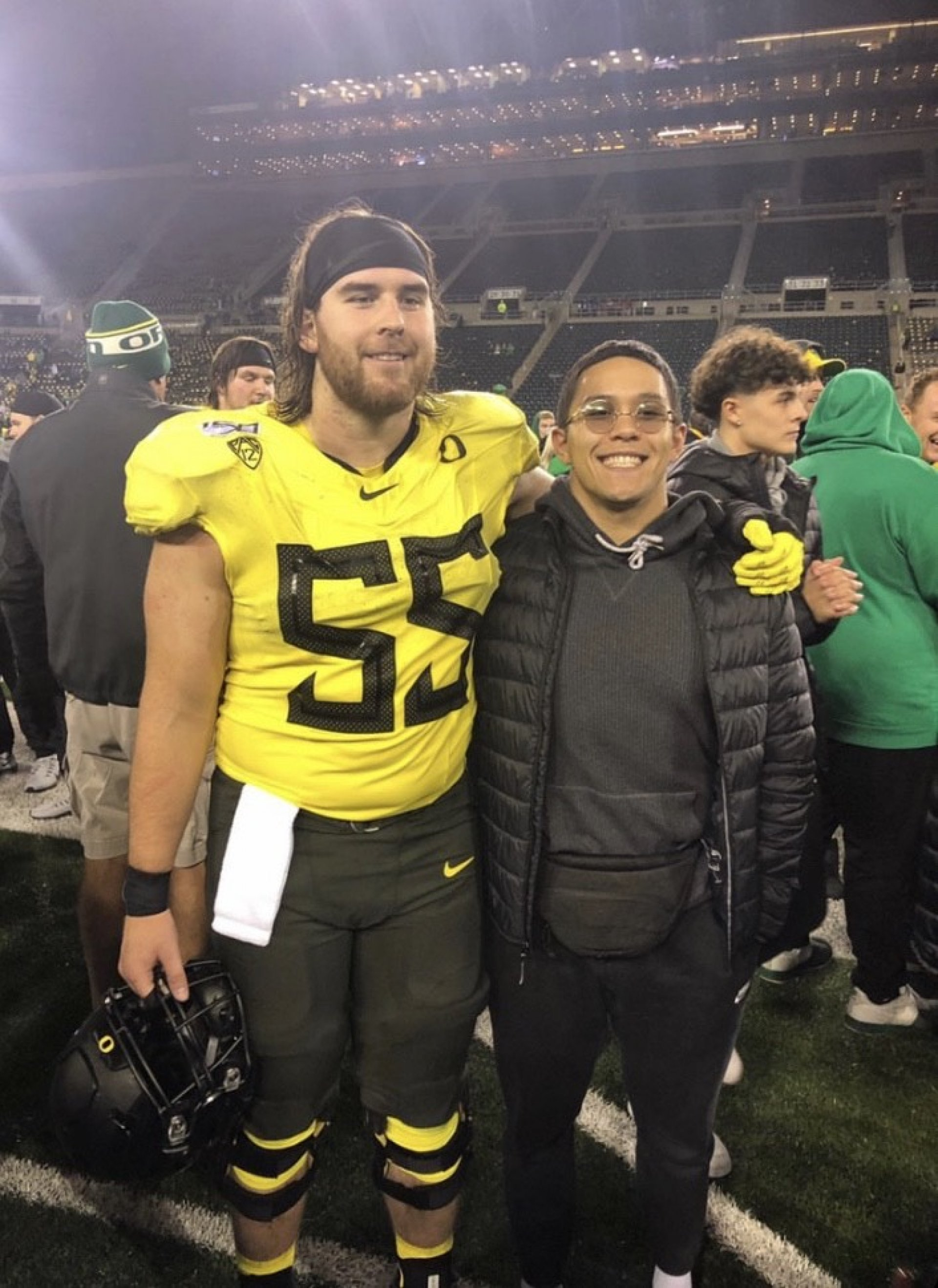 Left to right: Jake Hanson and former high school teammate Tyson Miller. | Photo courtesy of Tyson Miller