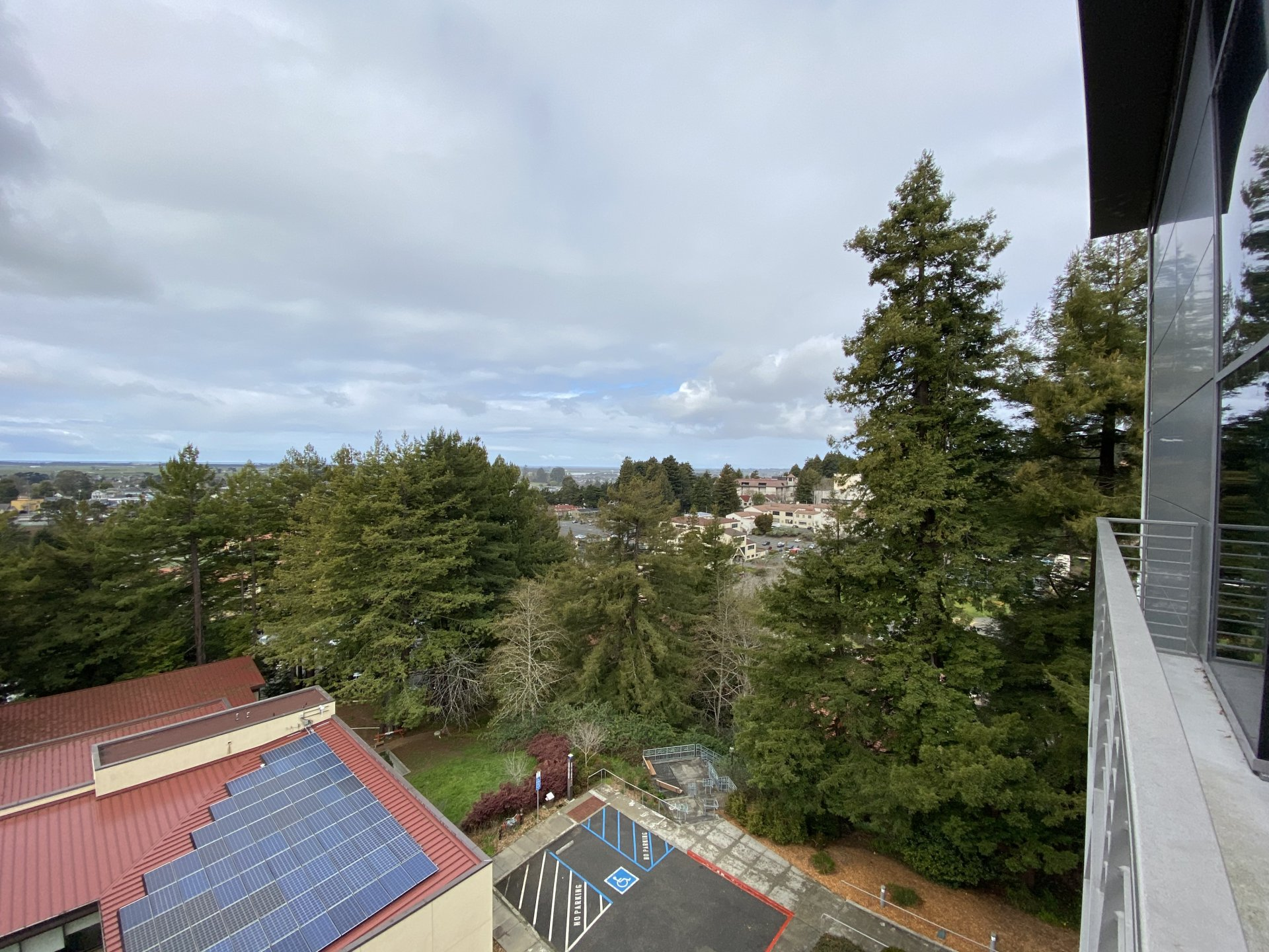 Humboldt State University seen from the top of the Behavioral and Social Sciences building March 23. | Photo by James Wilde