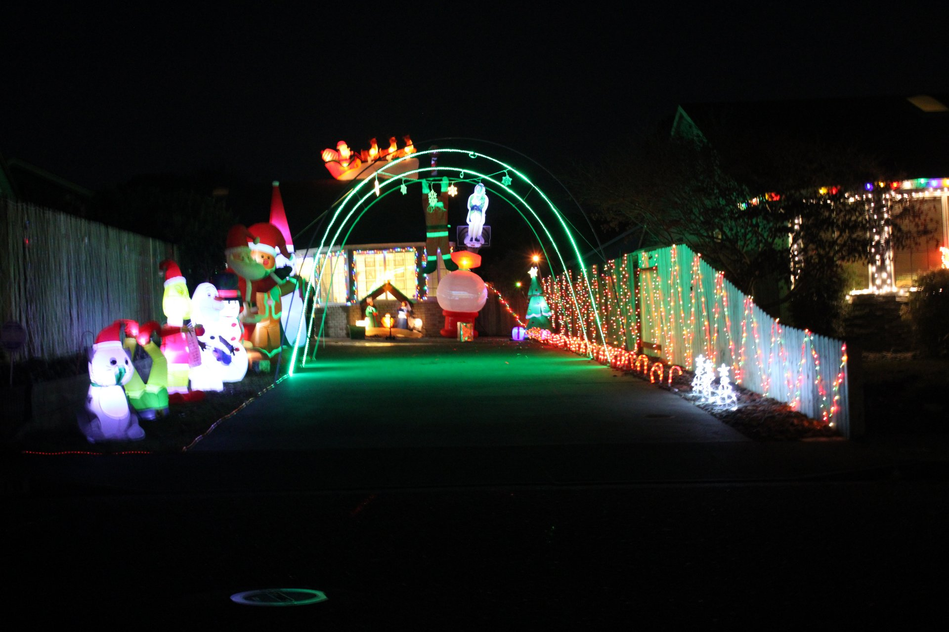 Christmas decor up in McKinleyville neighborhood on Nov. 28 | Photo by Becca Laurenson