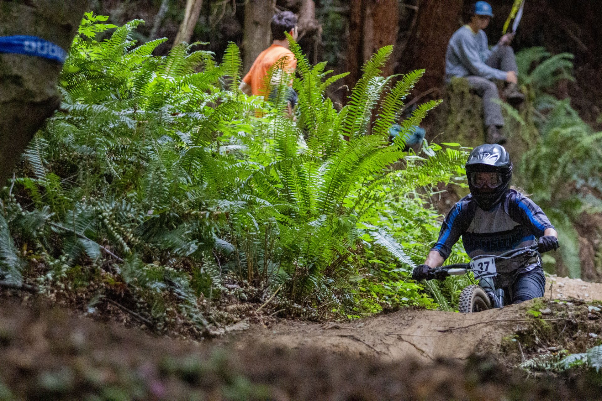 Transition Bikes rider Bonnie Burke makes her way through stage two of the Mad River Enduro course on the way to winning the Open/Pro Women's class on September 7. | Photo by Thomas Lal
