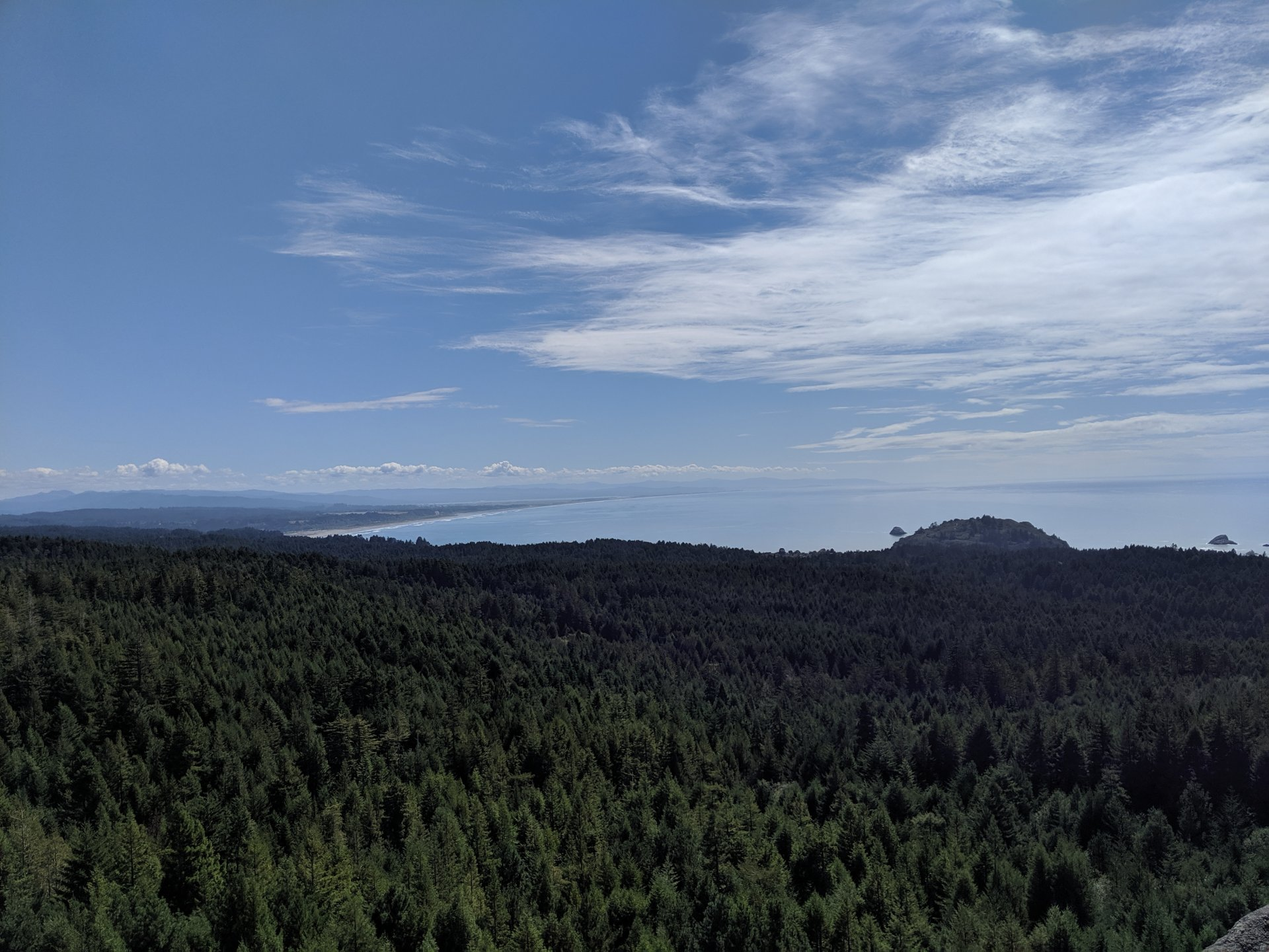 The view atop Strawberry Rock is one of the best in the county. On clear days, you can see past Eureka. | Photo by Jett Williams