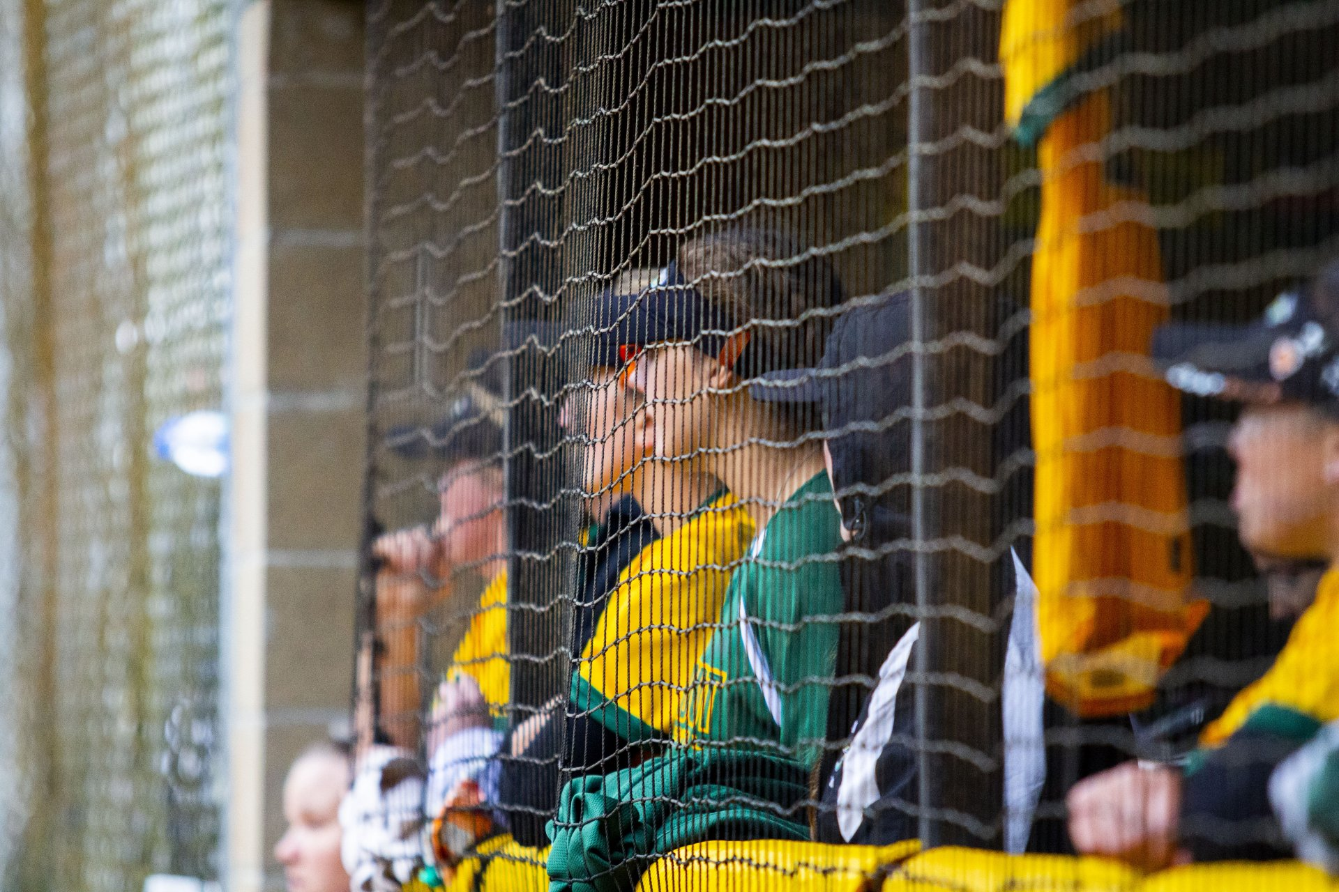 The Humboldt State Softball team in their dugout on Feb. 28 2020 at the HSU Softball Field. |  Photo by Thomas Lal
