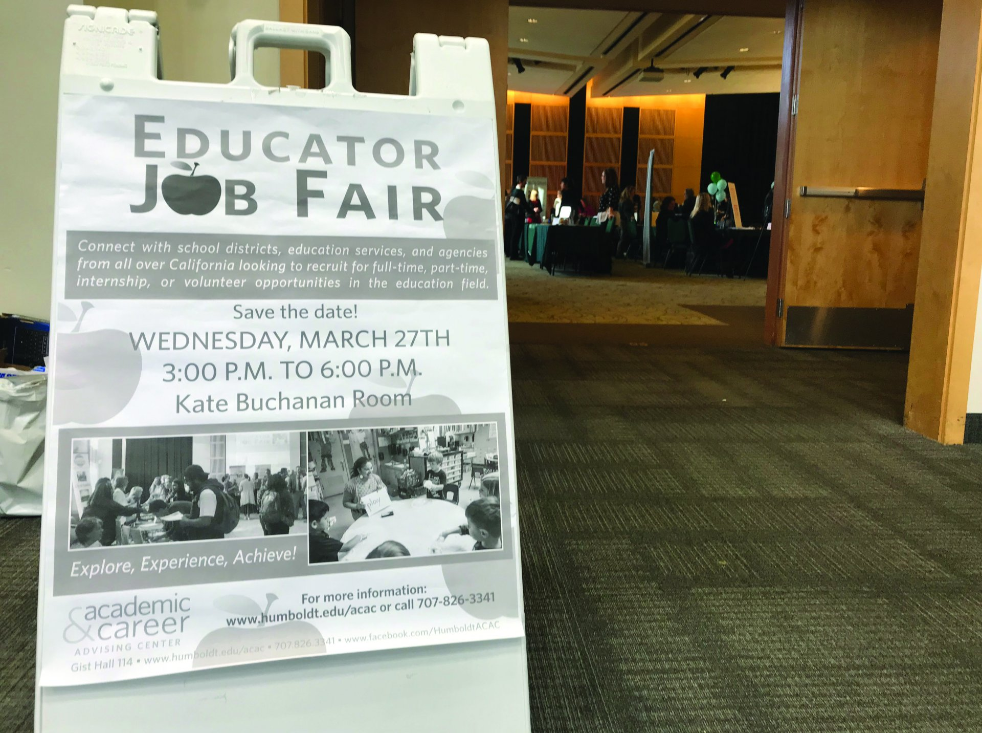 The Academic and Career Advising Center hosted  its second Educators Job Fair. | Photo by Colllin Slavely