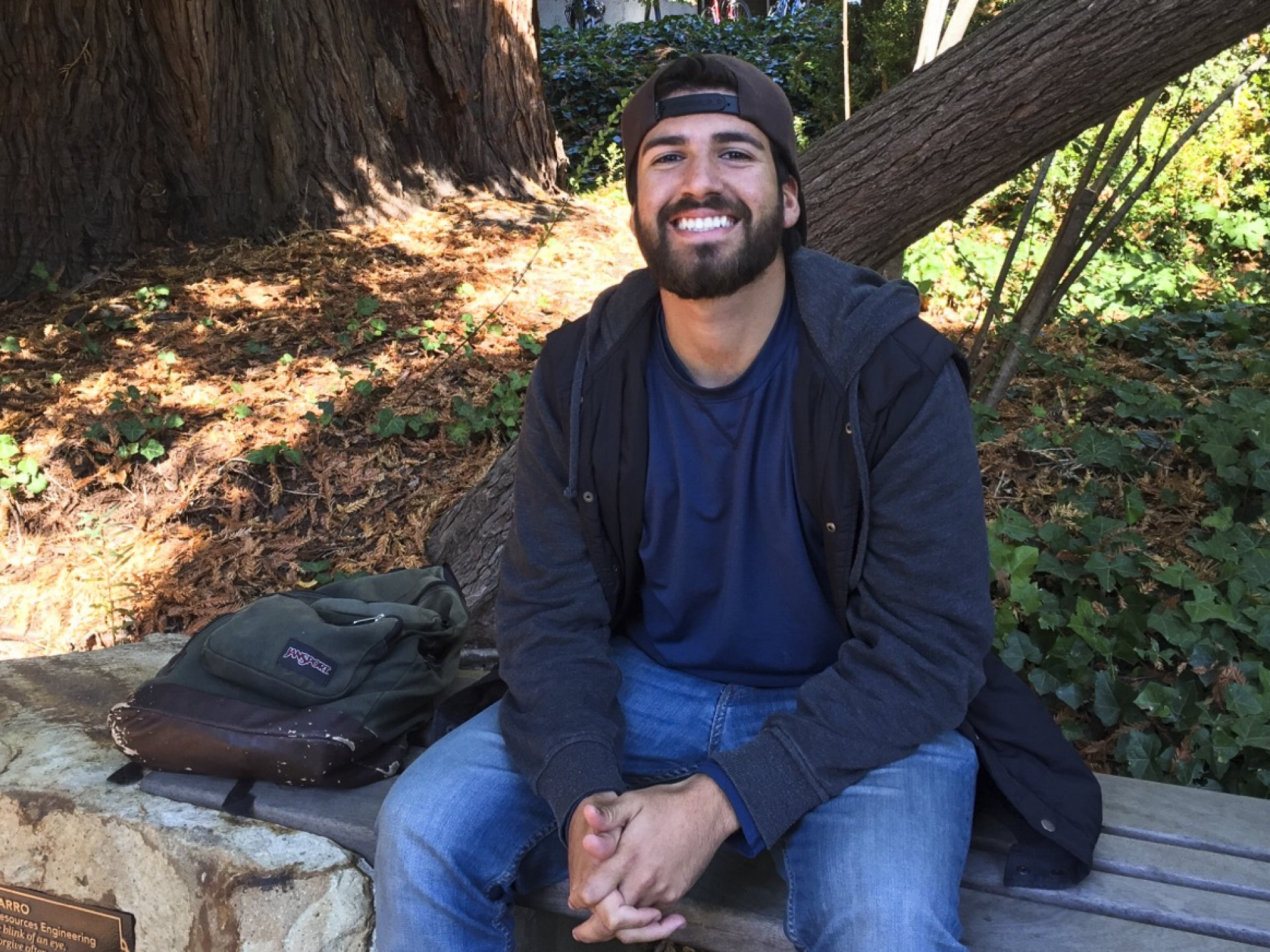 Alex Jamal, a wildlife major, plans to join the Peace Corps after graduating. Photo credit: Kyra Skylark