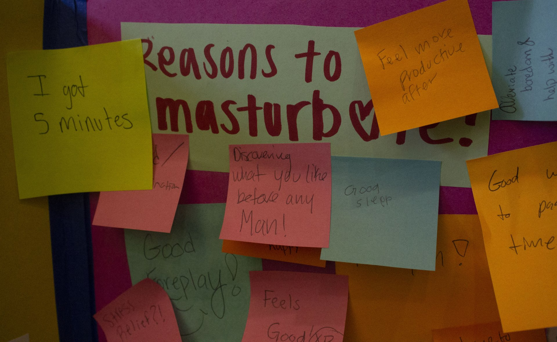 Positive messages left by many students for all to see. April 20. Photo by Skylar Gaven.