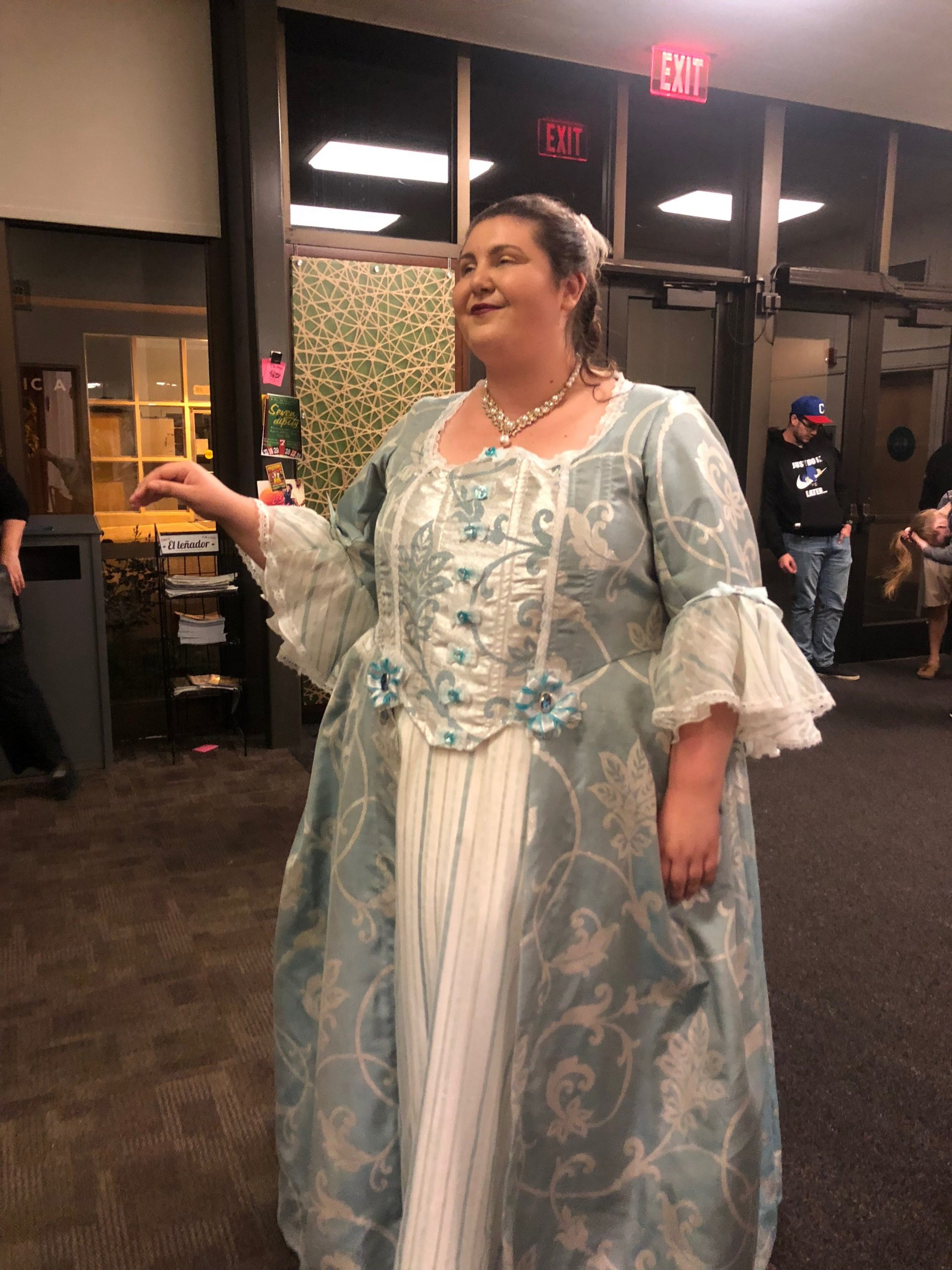 HSU student Helen Kimber after the performance, showing off her gorgeous gown that she wore during the final act on April 27. | Photo by Skylar Gaven