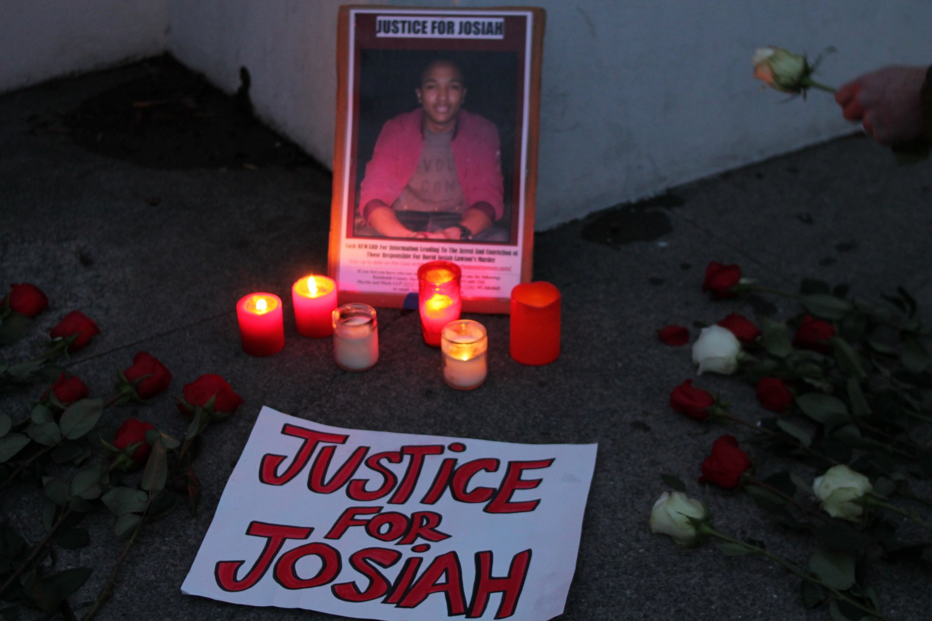 Jan. 15 marked the 21 month anniversary of David Josiah Lawson's murder. Over 50 supporters of Justice For Josiah gathered at the Humboldt County Courthouse in remembrance. Photo by T.William Wallin