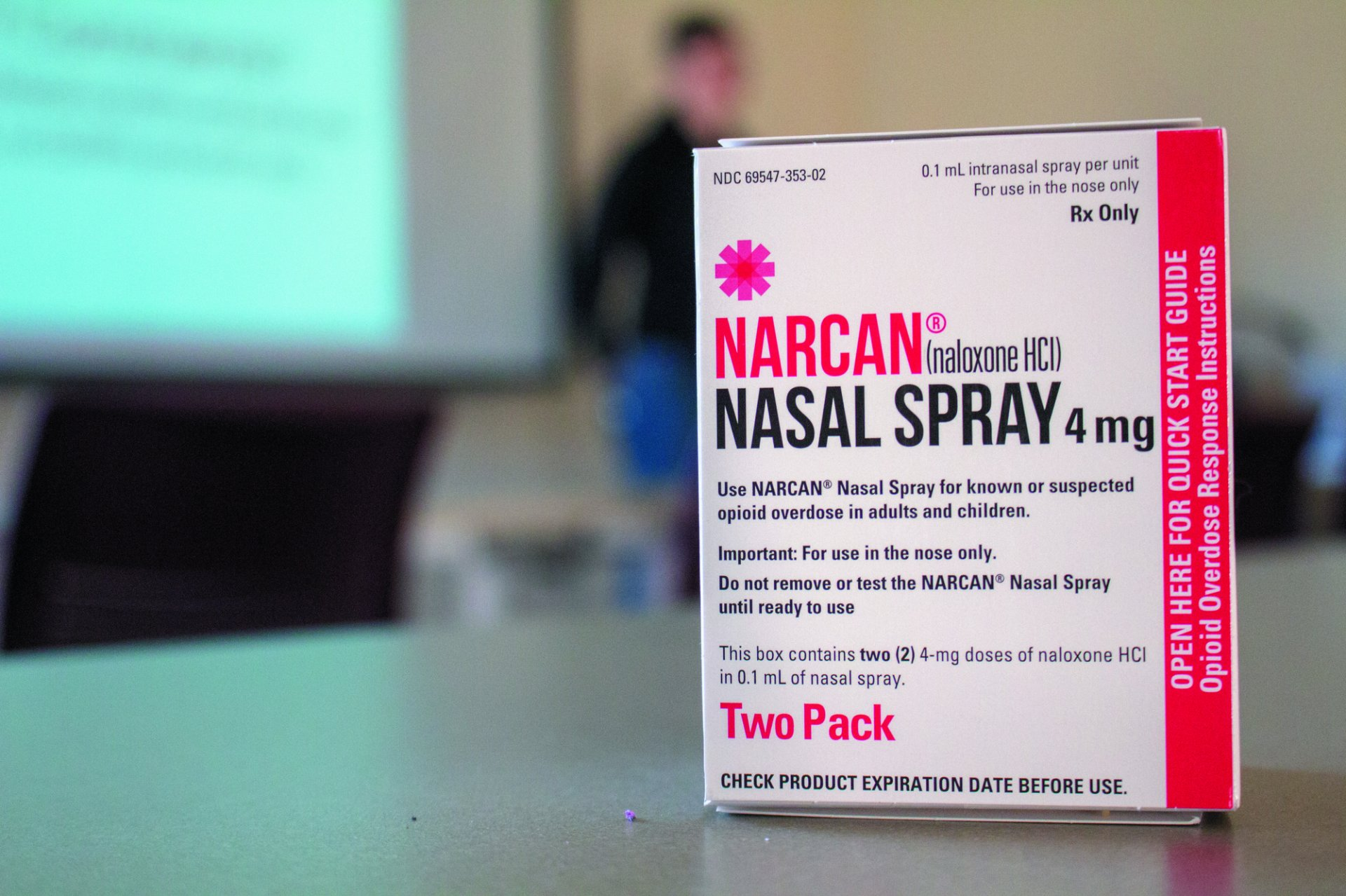 Narcan nasal spray is a safe and easy preventative of death for those overdosing from opioid.| Photo by T.William Wallin