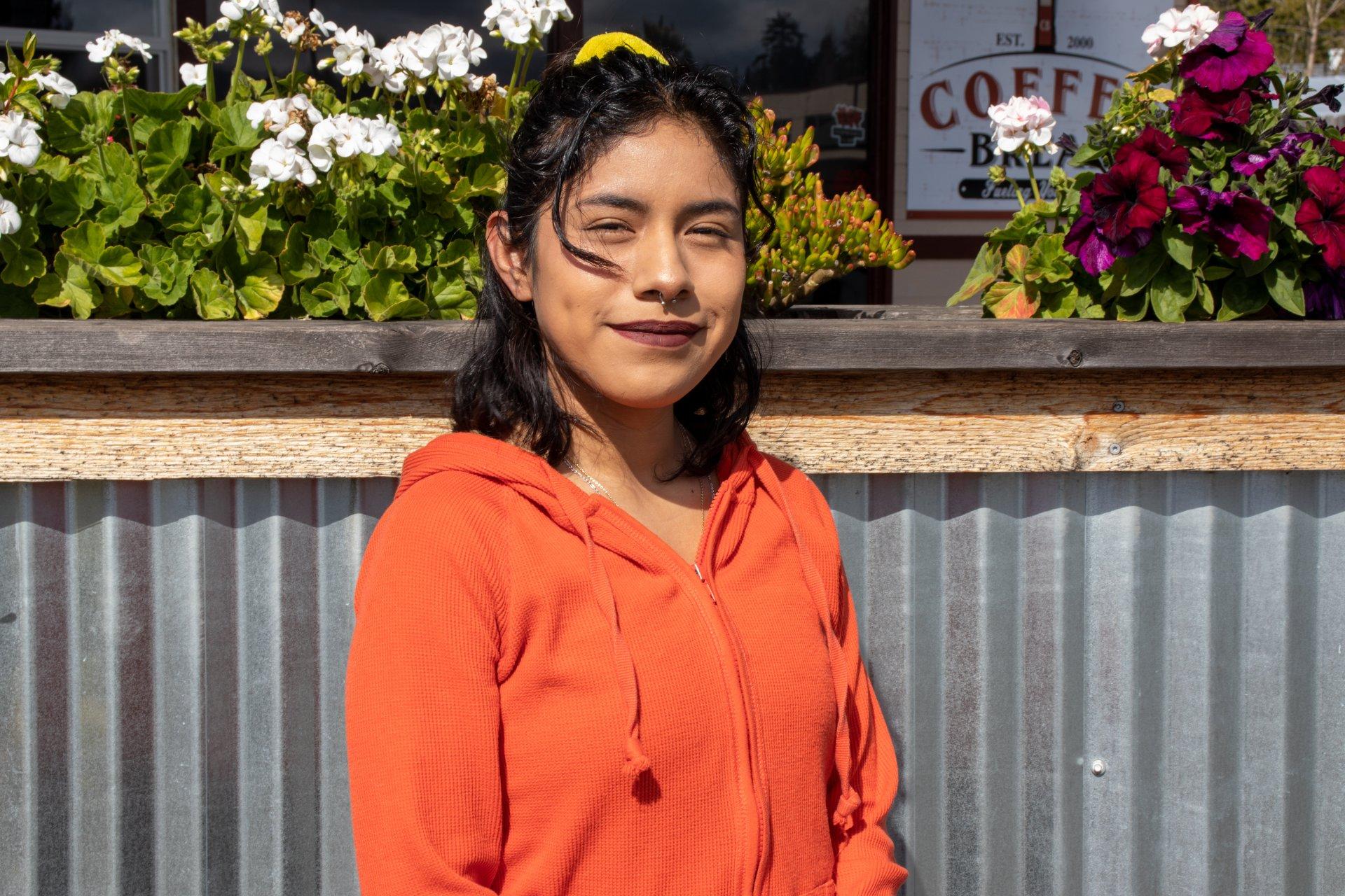 Associated Students President Lizbeth Cano-Sanchez at Coffee Break in Bayside, California on March 18.   Photo by Dakota Cox