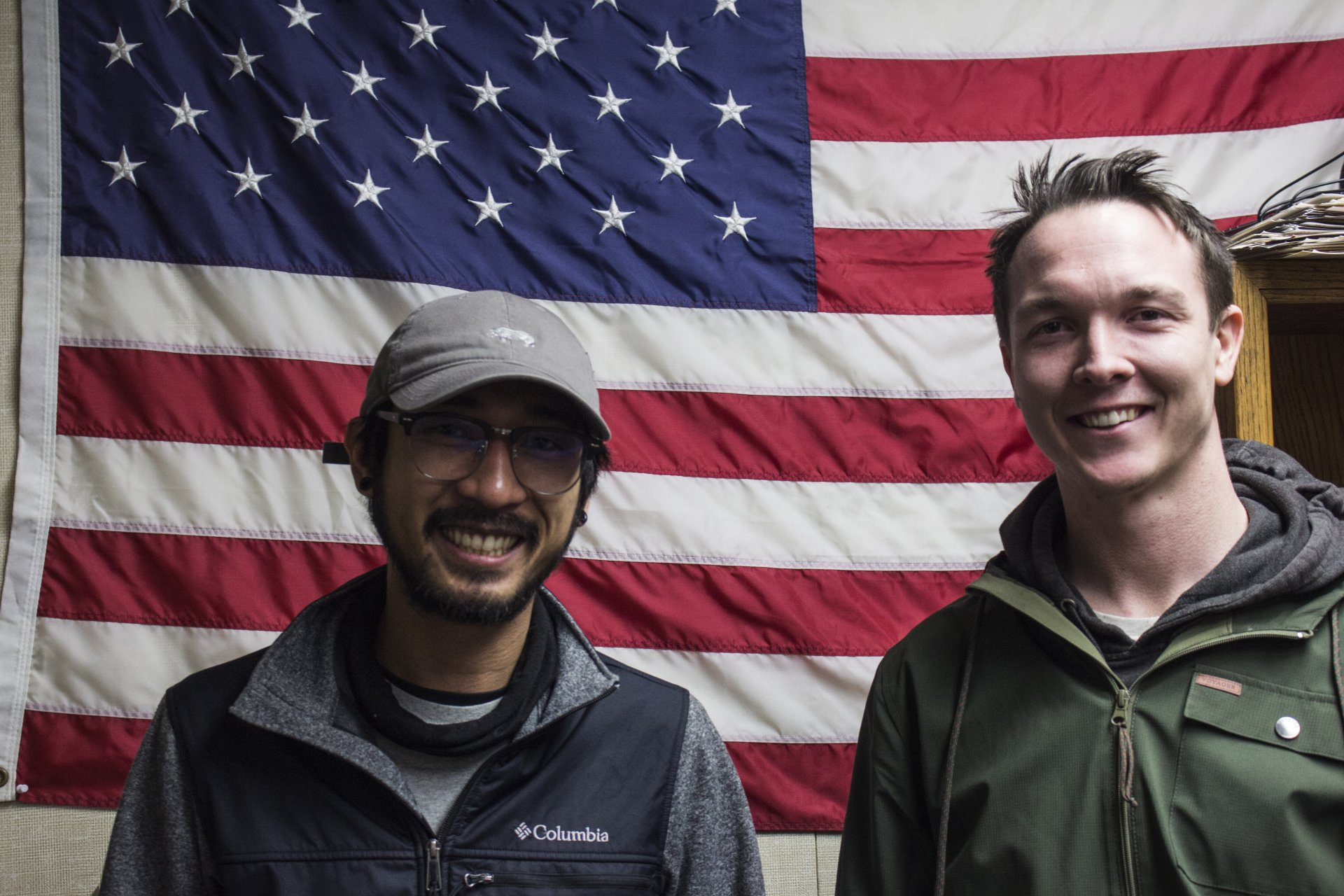 HSU veteran students Paulo Martin and Sean Dent met in the Veterans Office's outdoor program and found a community of other veterans. | File photo by T. William Wallin