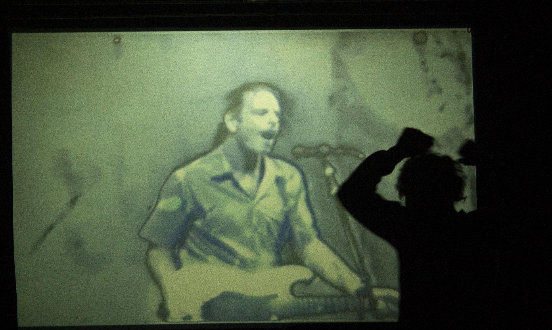 Grateful Dead fan, Will Ozone dancing all over the dance floor. Saturday Feb. 2. | Photo by Skylar Gaven