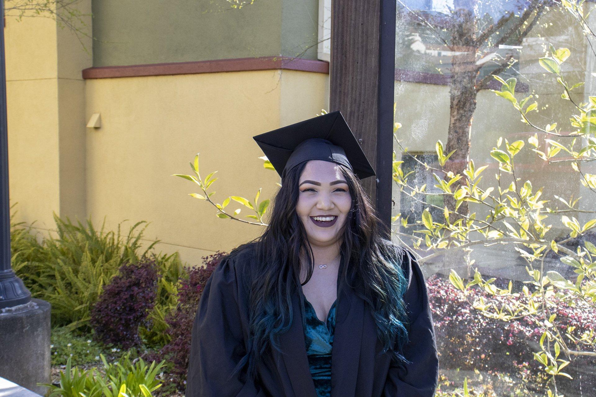 Graduating senior Sheila Ramos. | Photo by Ian Vargas