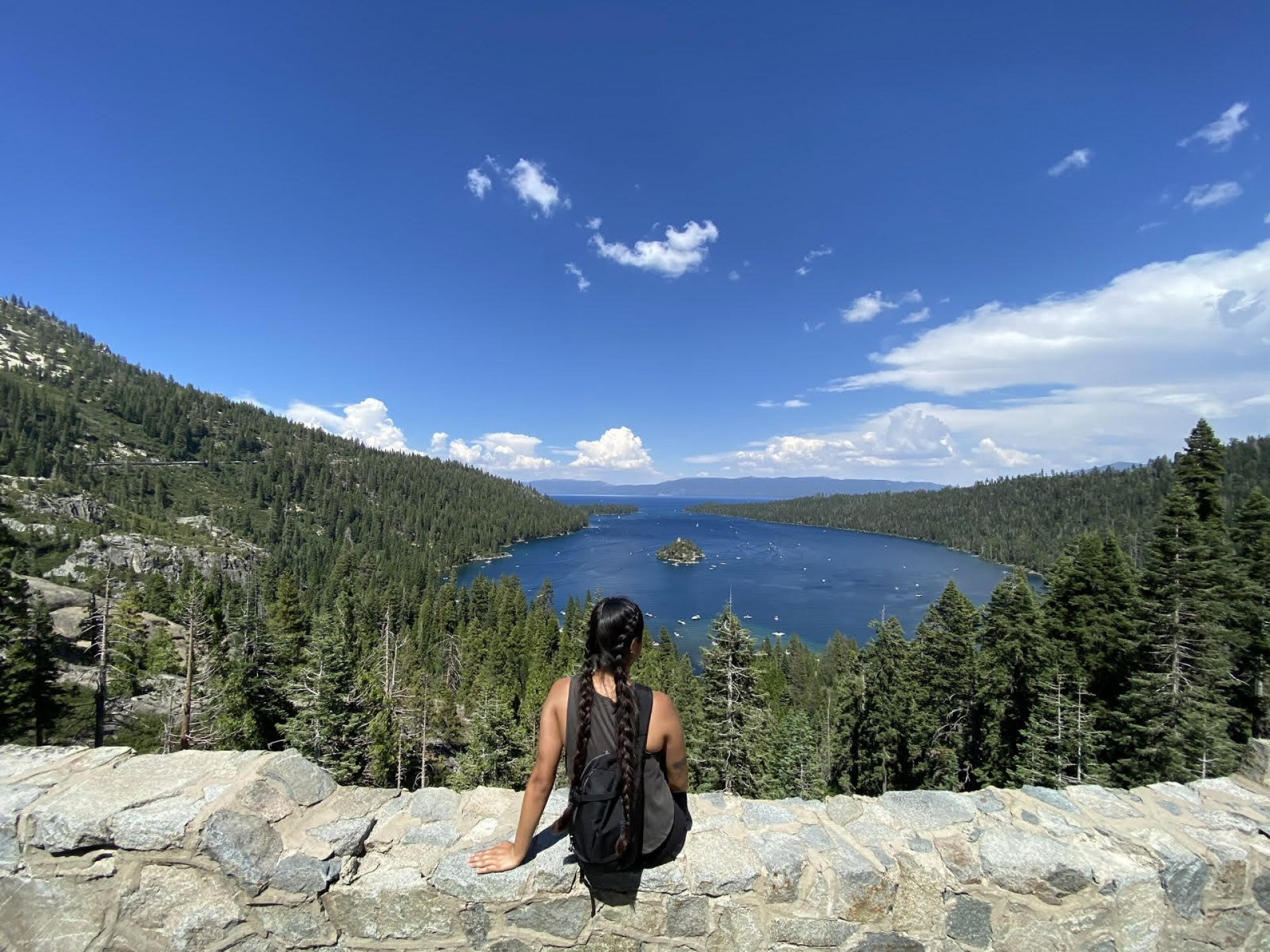 Sheila Camarena lives her life on the edge as she basks in the beauty of Lake Tahoe. | Photo courtesy of Sheila Camarena