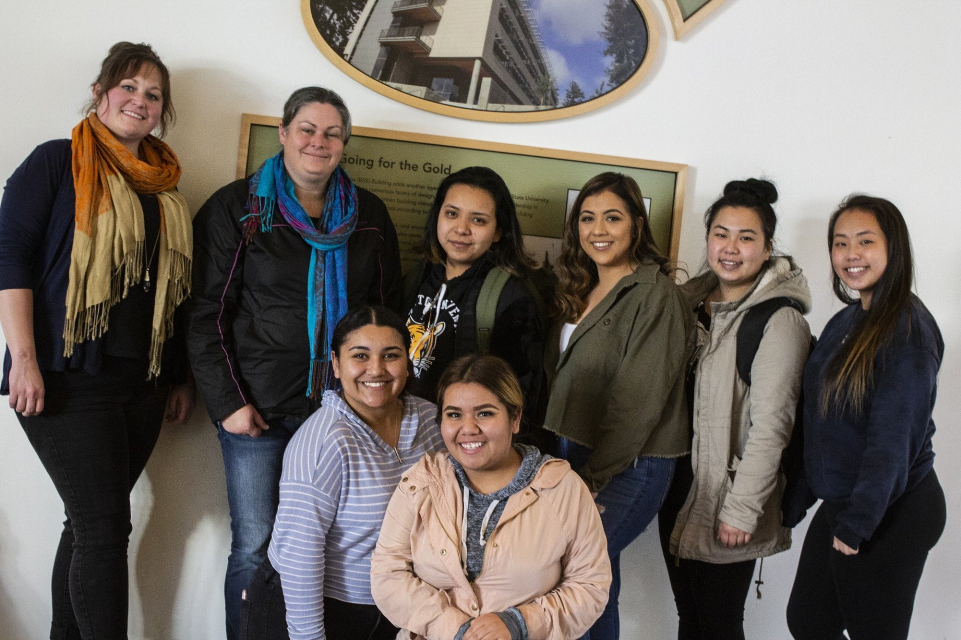 Laura Garcia (bottom left) gathered 30 signatures from students and submitted them along with a prepared statement to the University Senate on Nov.13, 2018. By William F. Brewster