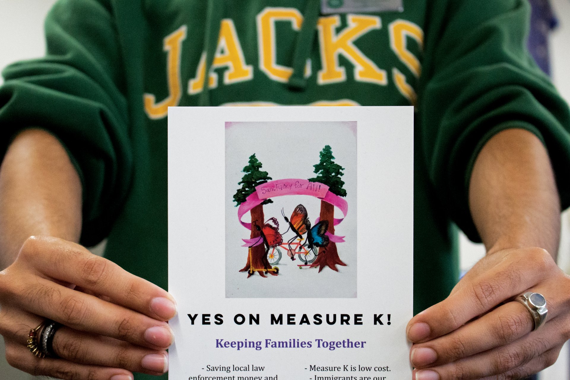 Measure K, written by lawyer Eric Kirk, will be on the November ballot and would make Humboldt County a sanctuary county along with 300 other jurisdictions nationally. | Photo by Tony Wallin