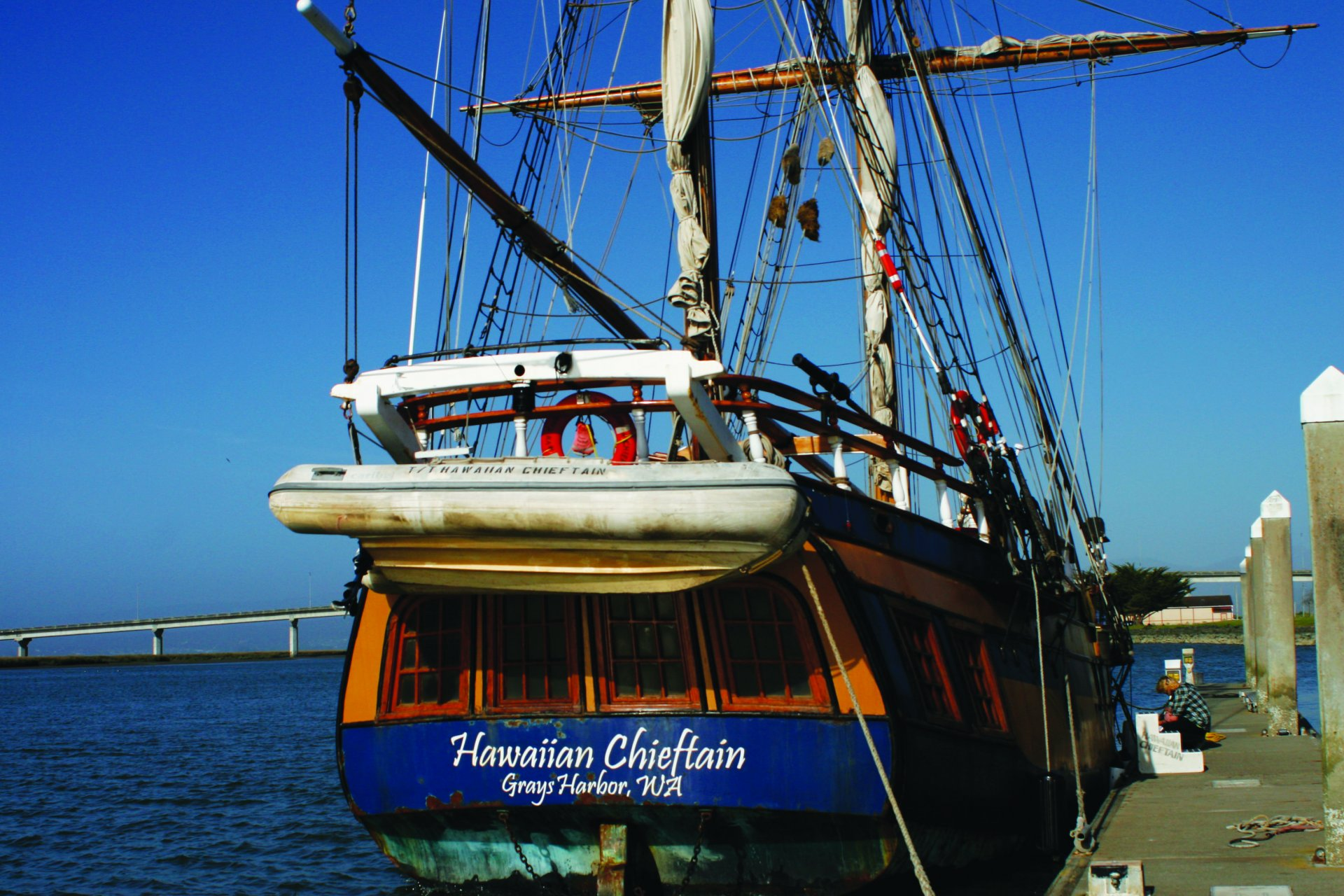 The Lady Washington was forced to seek shelter in Bodega Bay, but her sister ship, the Hawaiian Chieftain was offering tours and sailing trips all weekend. | Photo by Silvia Alfonso