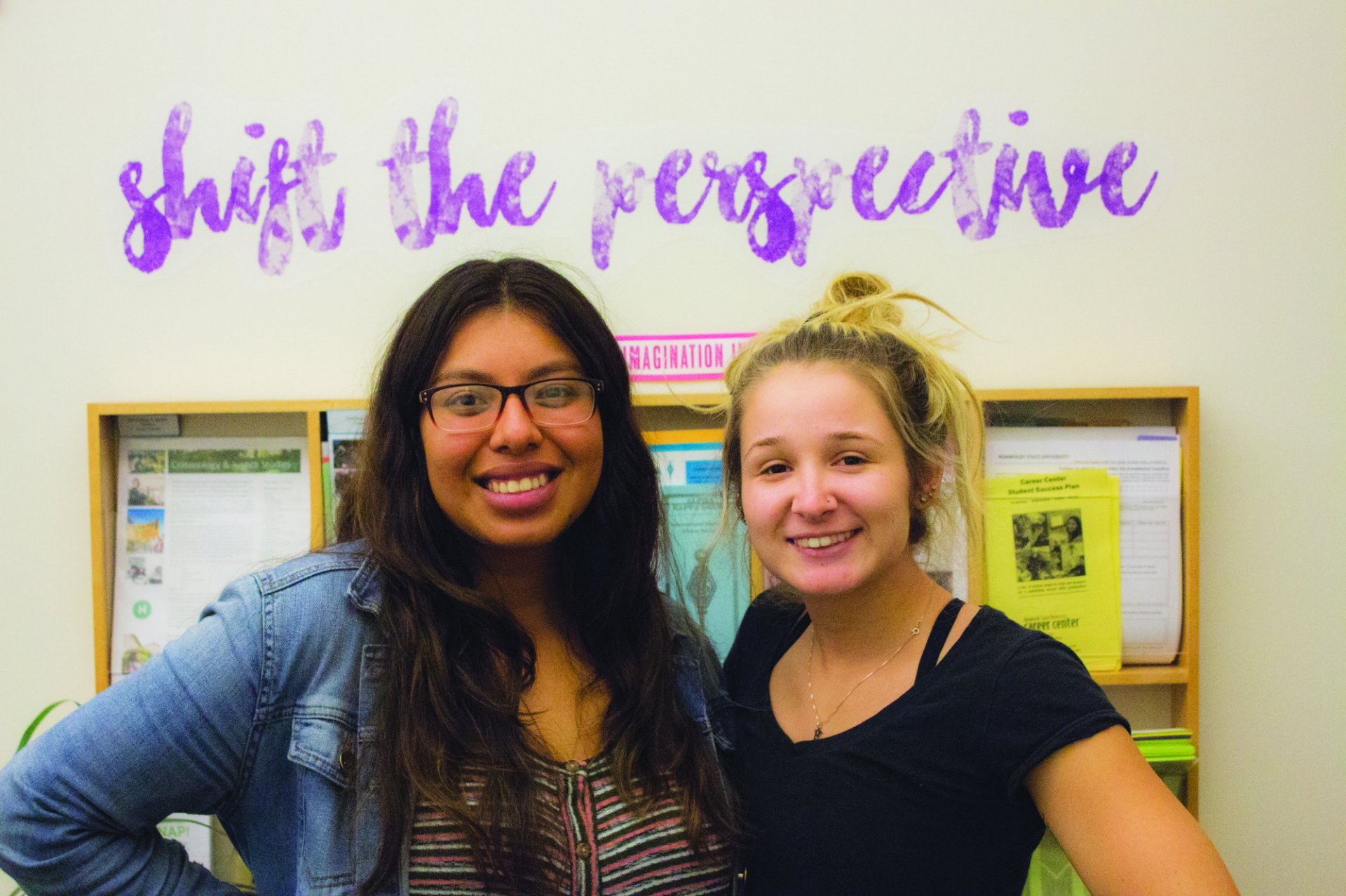 Criminology and Justic Studies seniors, Belen Gutierrez  and Ashleigh DeFraga, are sociology peer mentors who have also volunteered with YES! since freshman year. | Photo by T.William Wallin