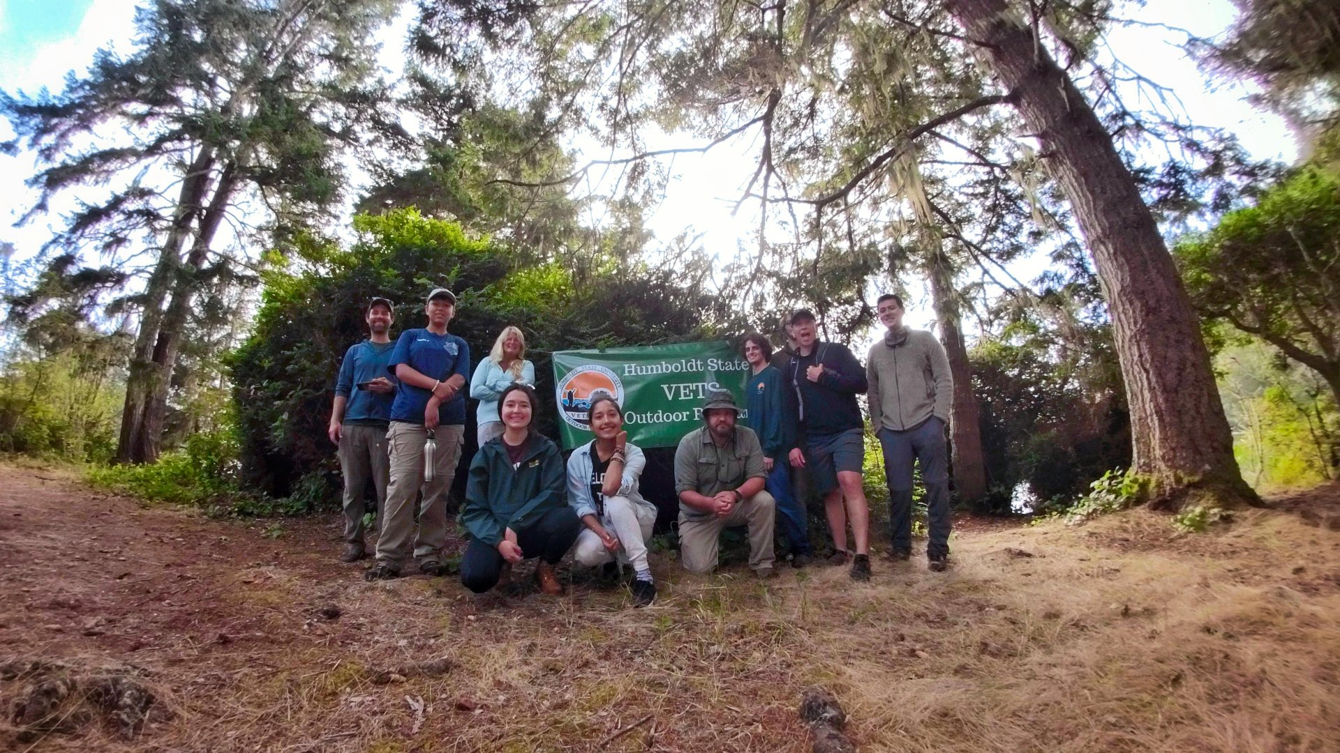 Humboldt State Veterans Enrollment and Transition Services' Outdoor program orientation. | Photo courtesy HSU VETS