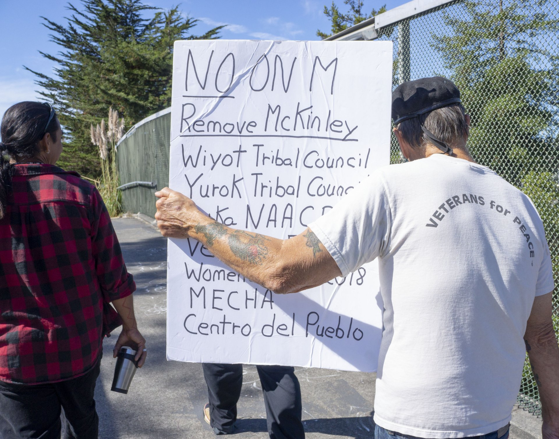 The No on Measure M rally began at the Humboldt State University UC quad and lead it's way to the Arcata Plaza on Oct. 8. | Photo by Stella Stokes