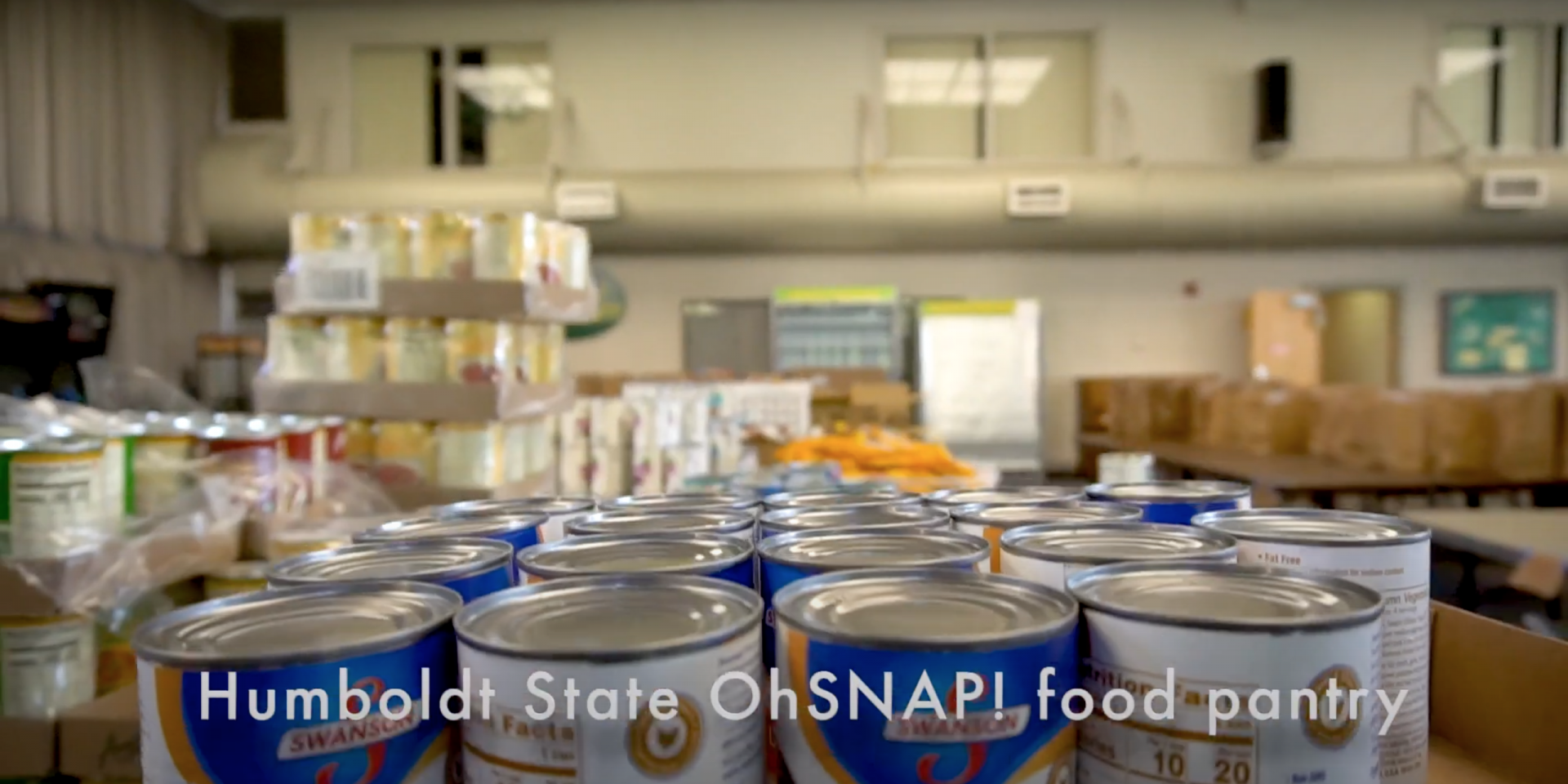 Screenshot of the OhSNAP! food pantry at the bottom floor of the Humboldt State Jolly Giant Commons. | James Wilde