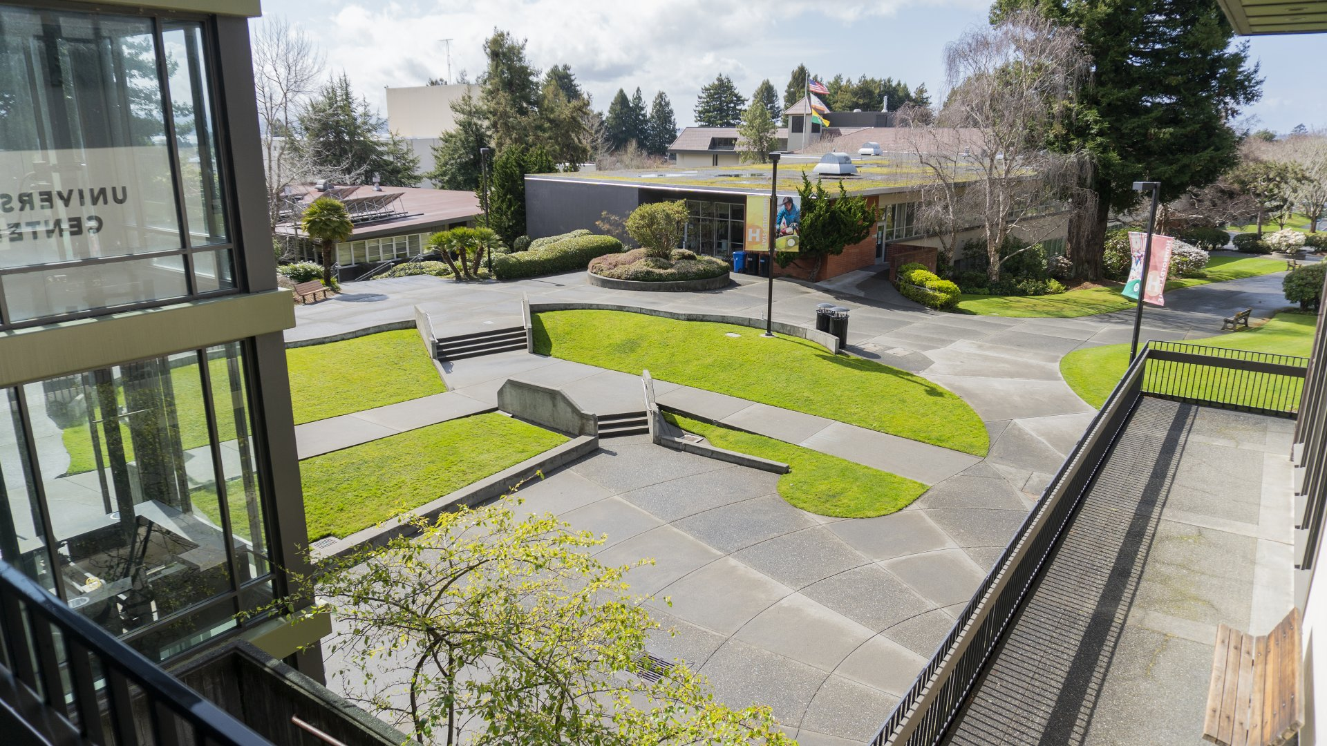 The Humboldt State University campus on March 14 for its first day of spring break following the cancellation of face-to-face classes March 26 through April 17 due to the COVID-19 pandemic. | Photo by James Wilde