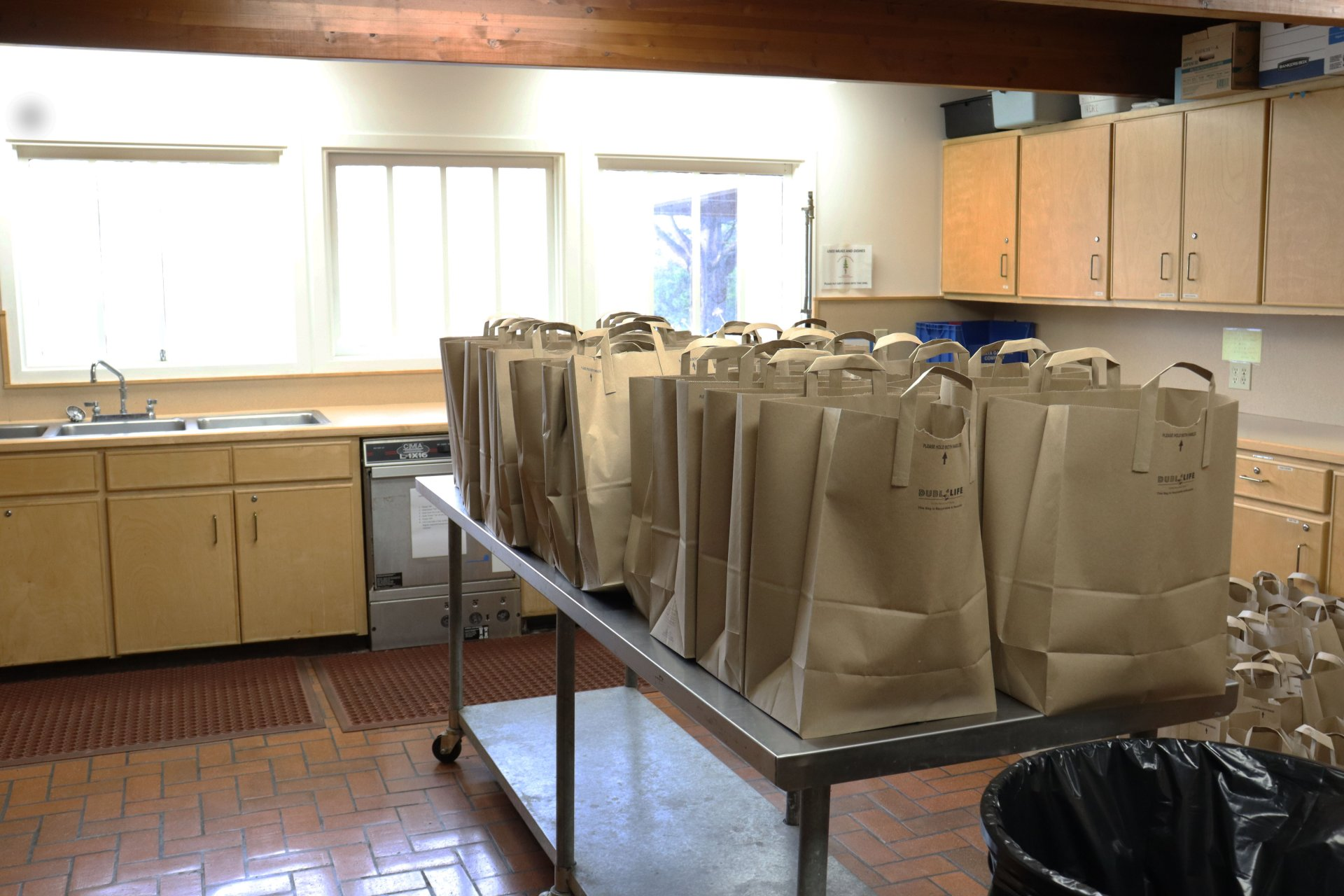 Bags prepared for distrabution at the  Home Away From Home distribution event.| Photo by Ian Vargas