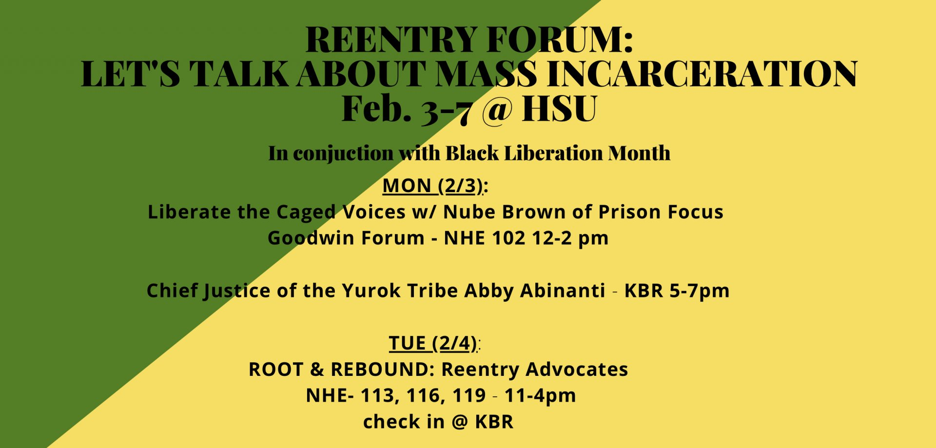 Crop of the flyer from the HSU Formerly Incarcerated Students Club