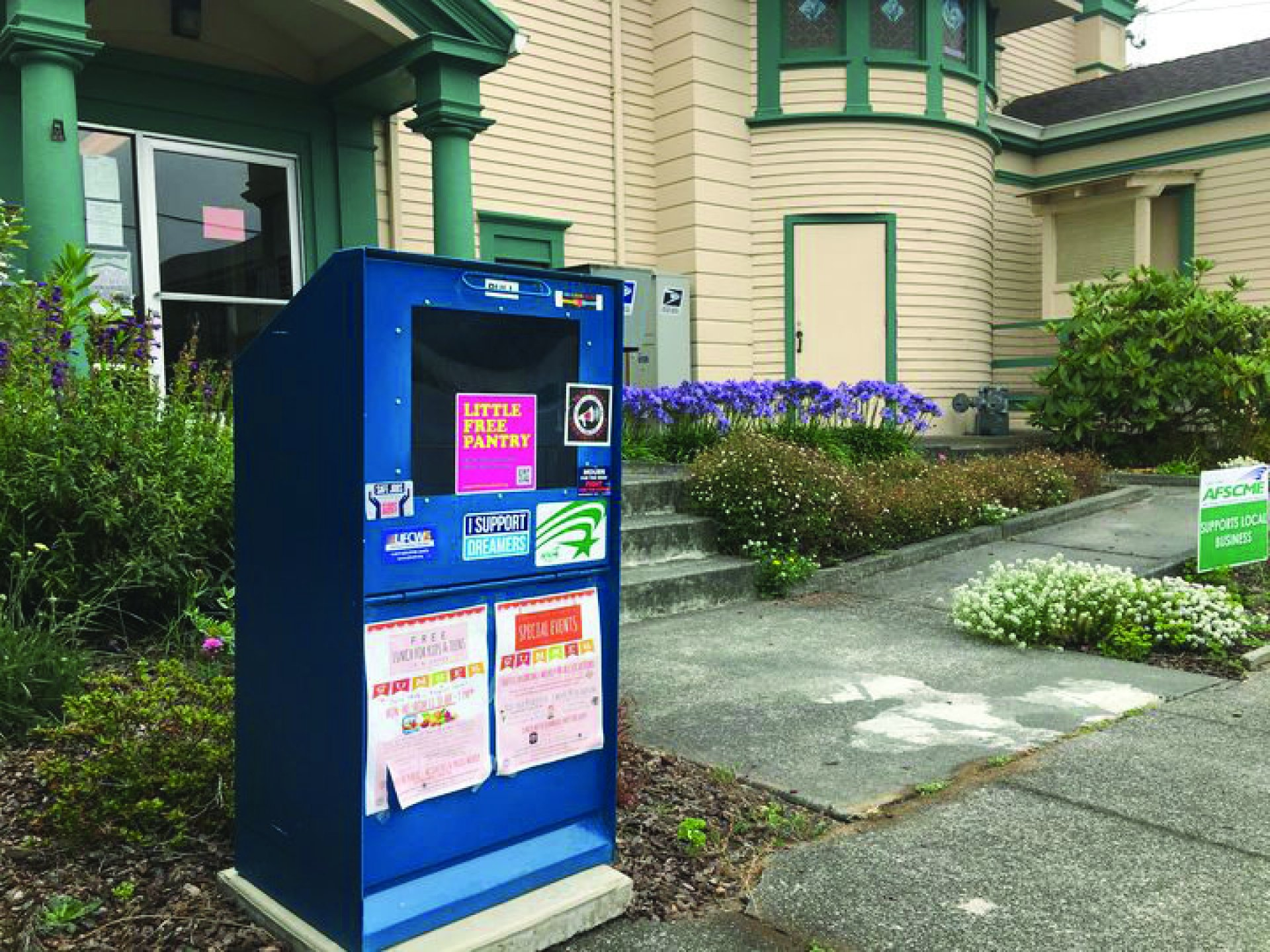 The Little Free Pantry Program Helps Build Community by Providing Easy Access to Food, Hygiene Products and Condoms. | Photo courtesy of Cooperation Humboldt