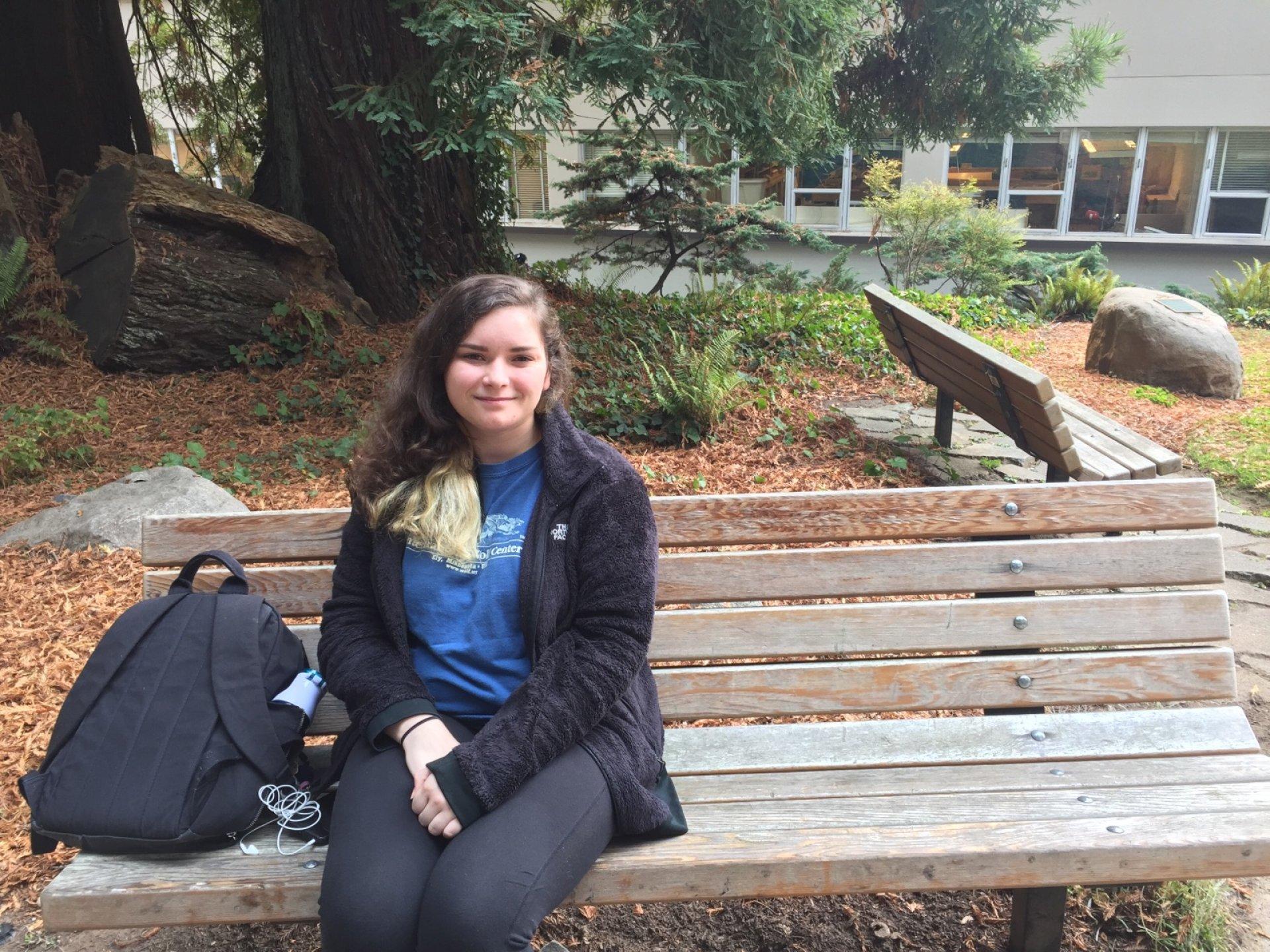 Ariel Robinson a mathematics major has found a community in Humboldt. Photo credit: Kyra Skylark