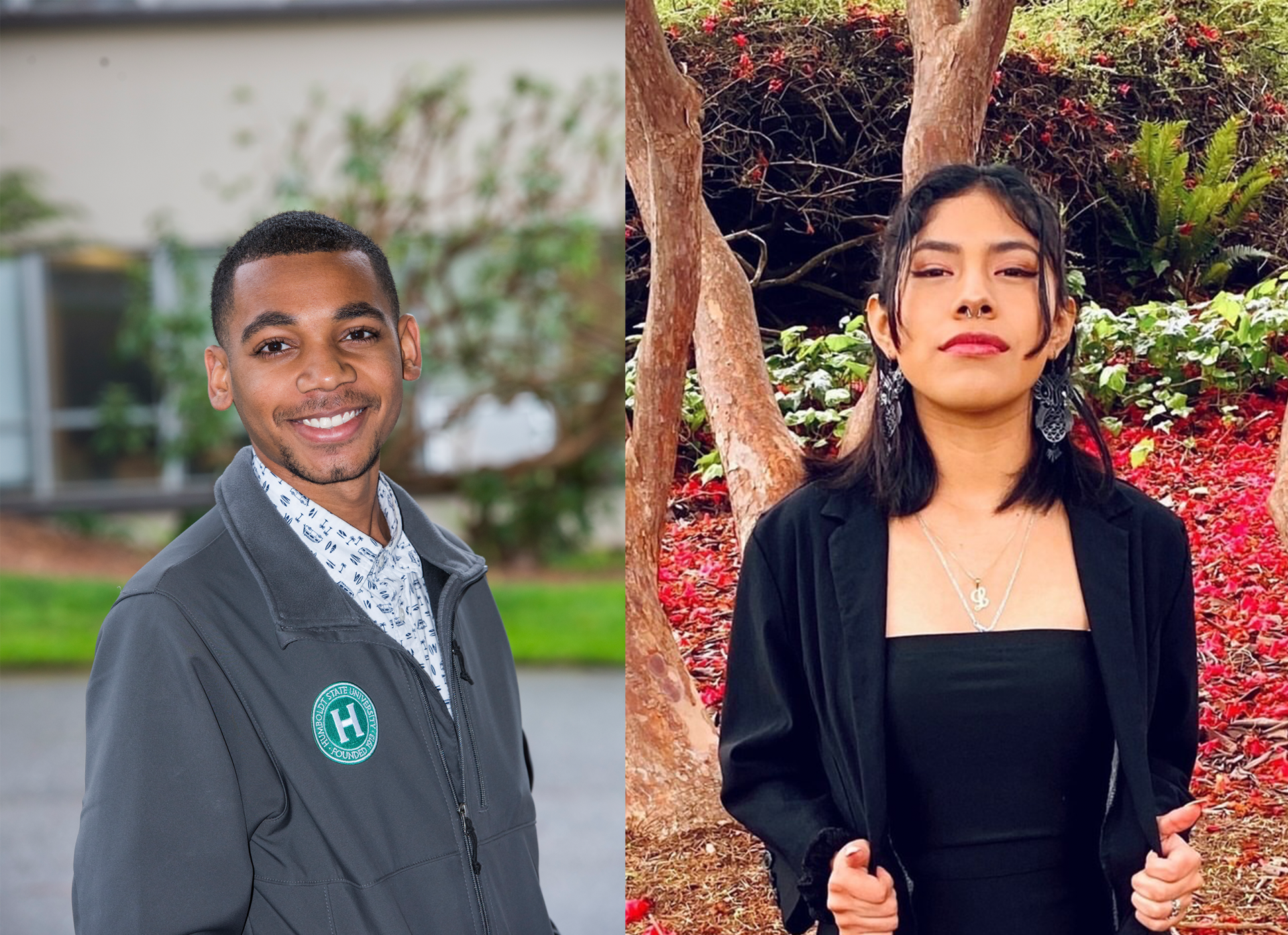 Left: Jeremiah Finley is the current AS President and is up for reelection for the 2021-22 school year. Right: Lizbeth Cano-Sanchez is running for AS President for the second time following her take over in Spring 2020 for then President, Yadira Cruz. | Photos Courtesy Jeremiah Finley and Lizbeth Cano-Sanchez