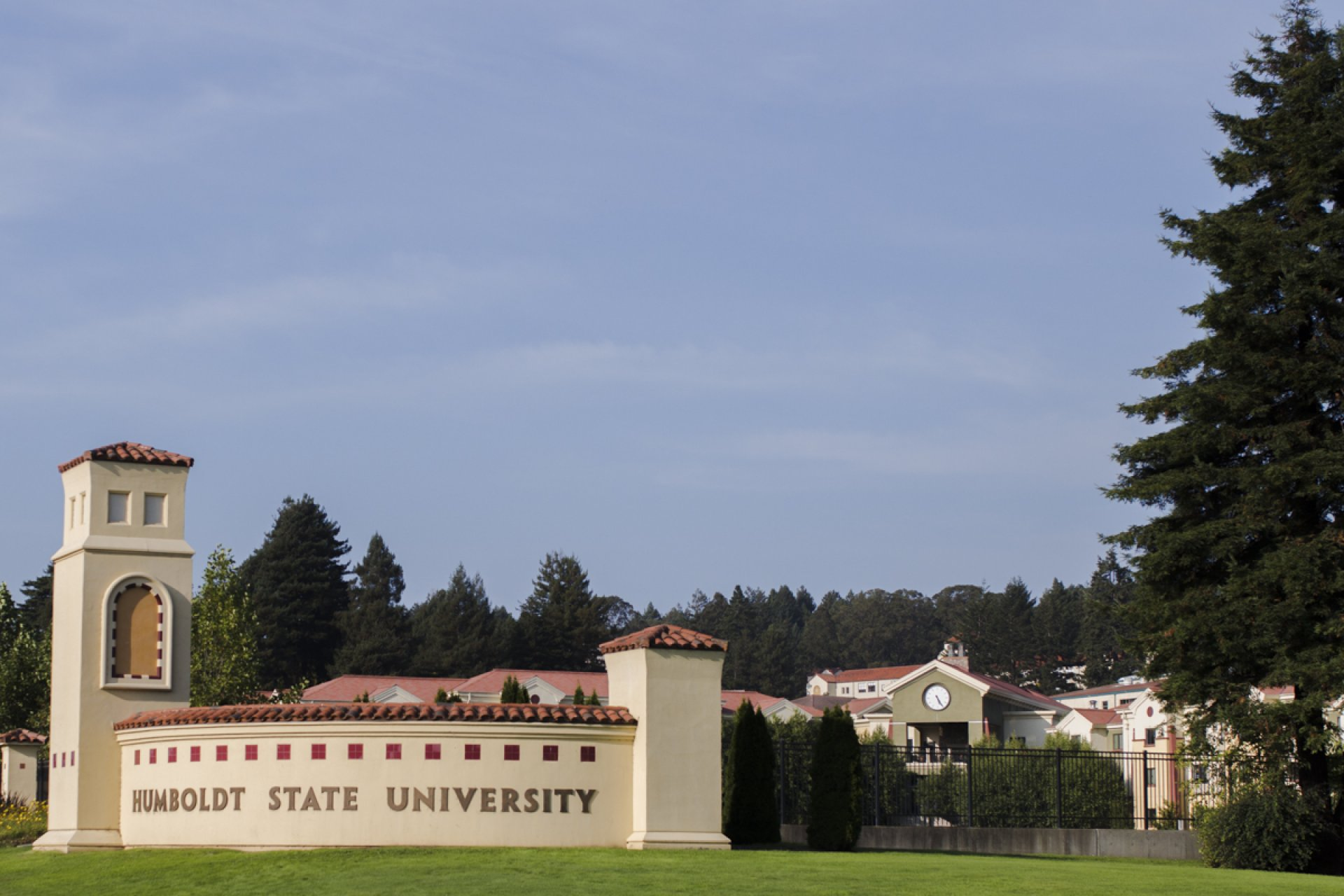 The view of Humboldt State University from 14th Street. | File photo by Lauren Shea