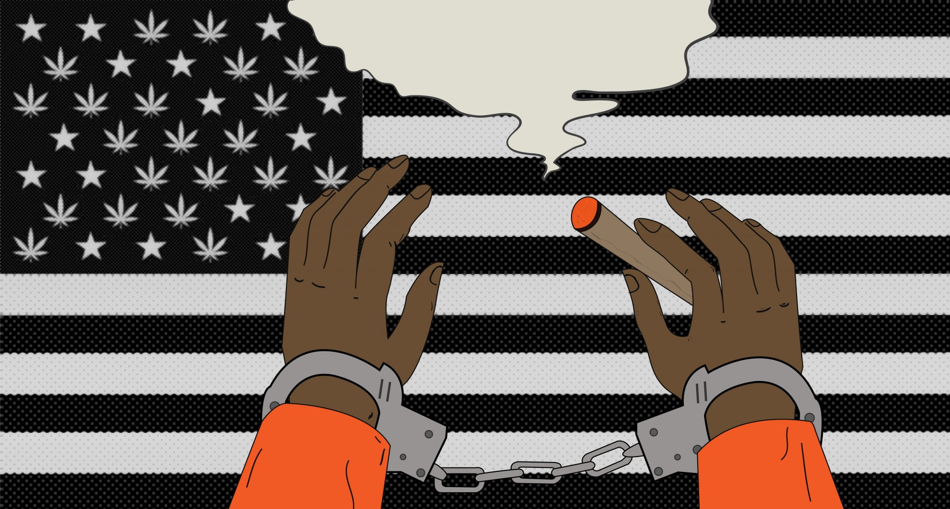 Black individuals are four times as likely as white individuals to be arrested for marijuana use/possession in the United States despite similar usage rates. | Photo illustration by Deija Zavala